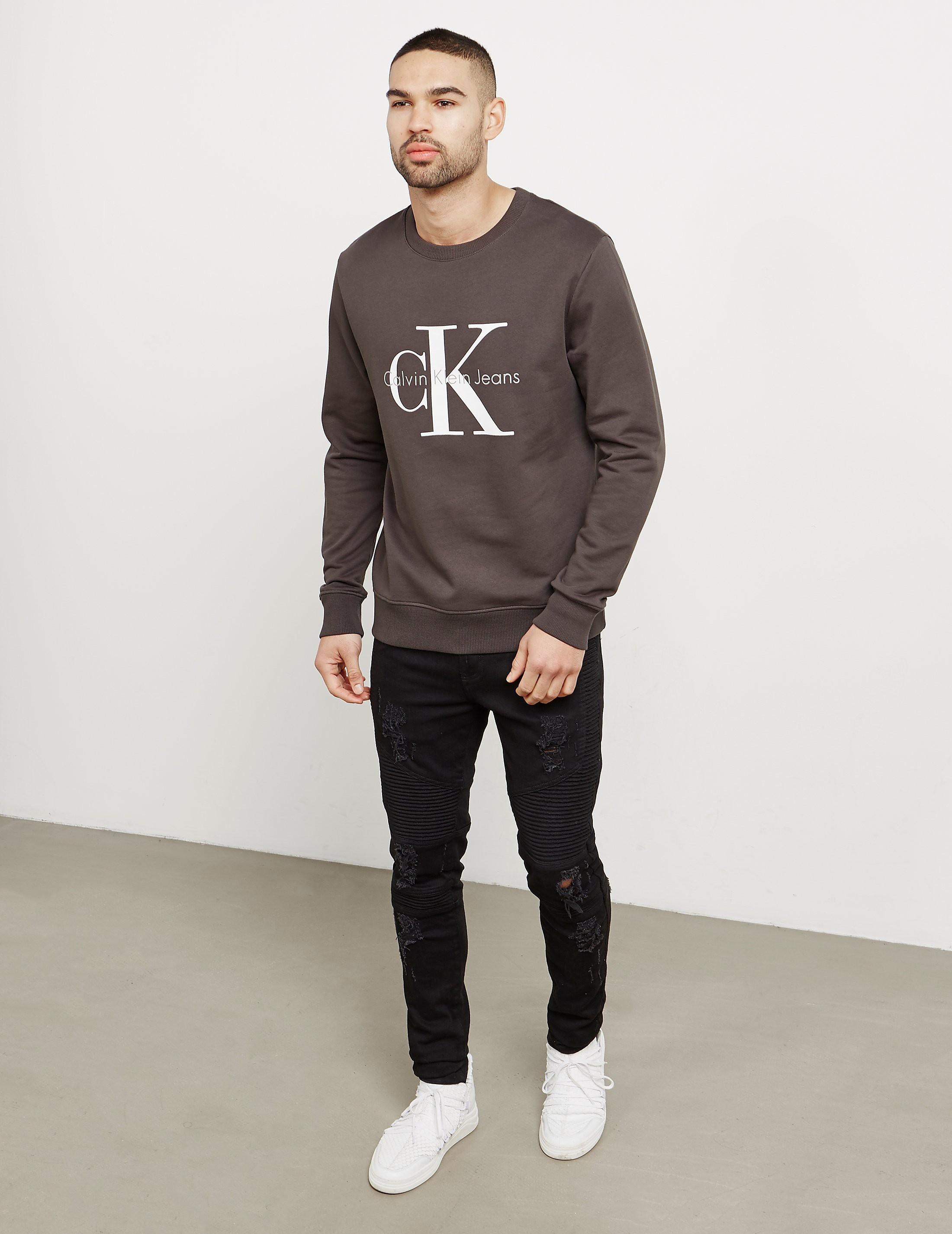 Calvin Klein Large Icon Logo Crew Sweatshirt