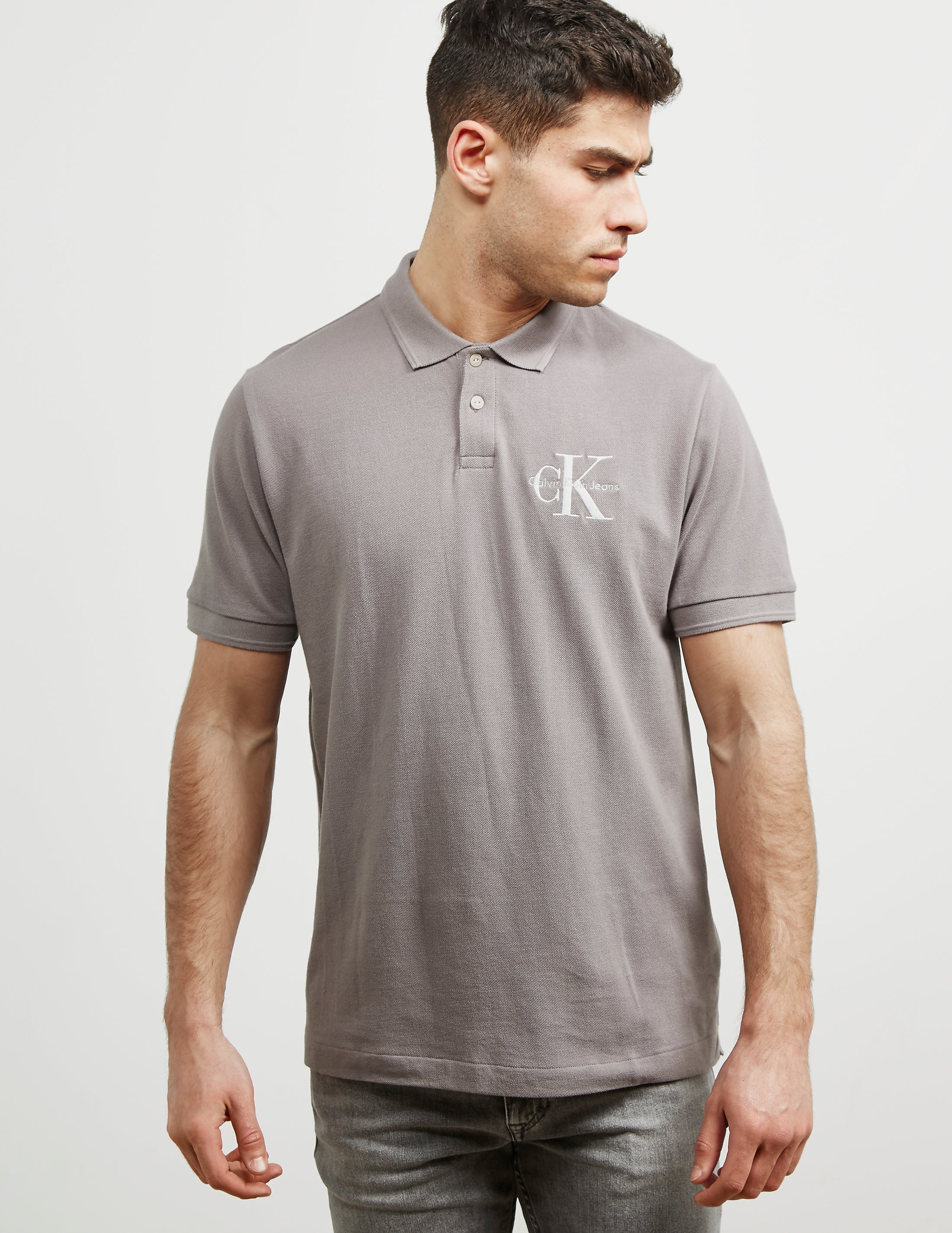 Calvin Klein Logo Short Sleeve Polo Shirt