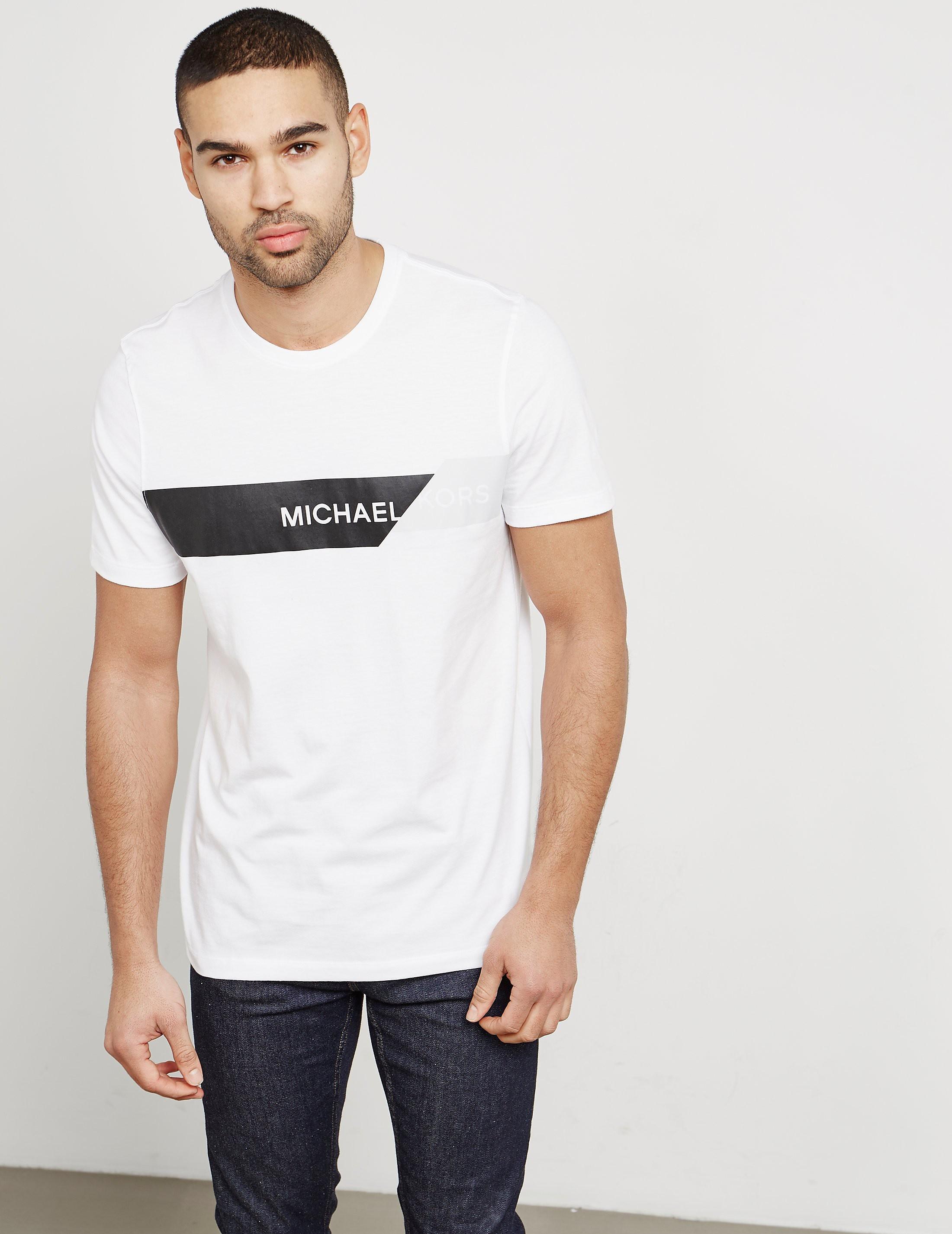 Michael Kors Stripe Logo Short Sleeve T-Shirt