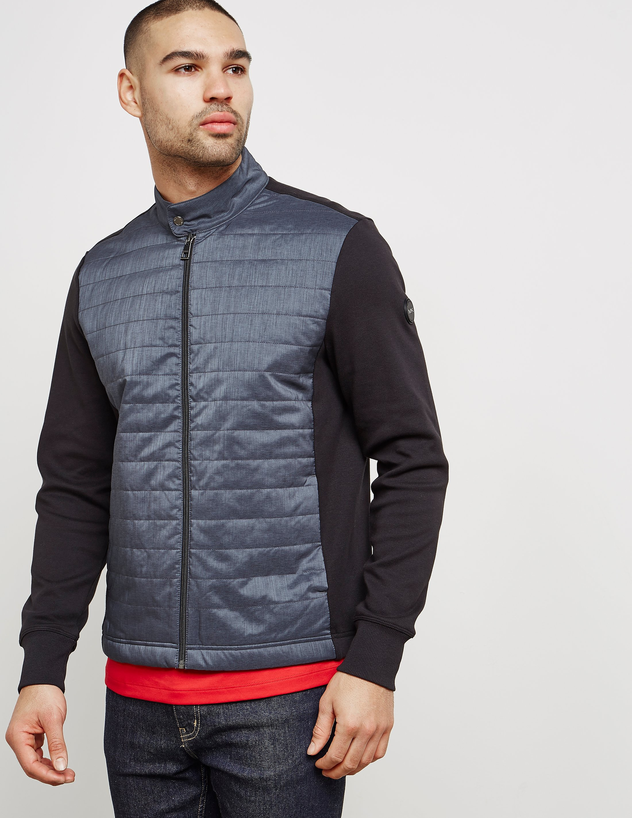 Michael Kors Quilted Zip-Up Track Top