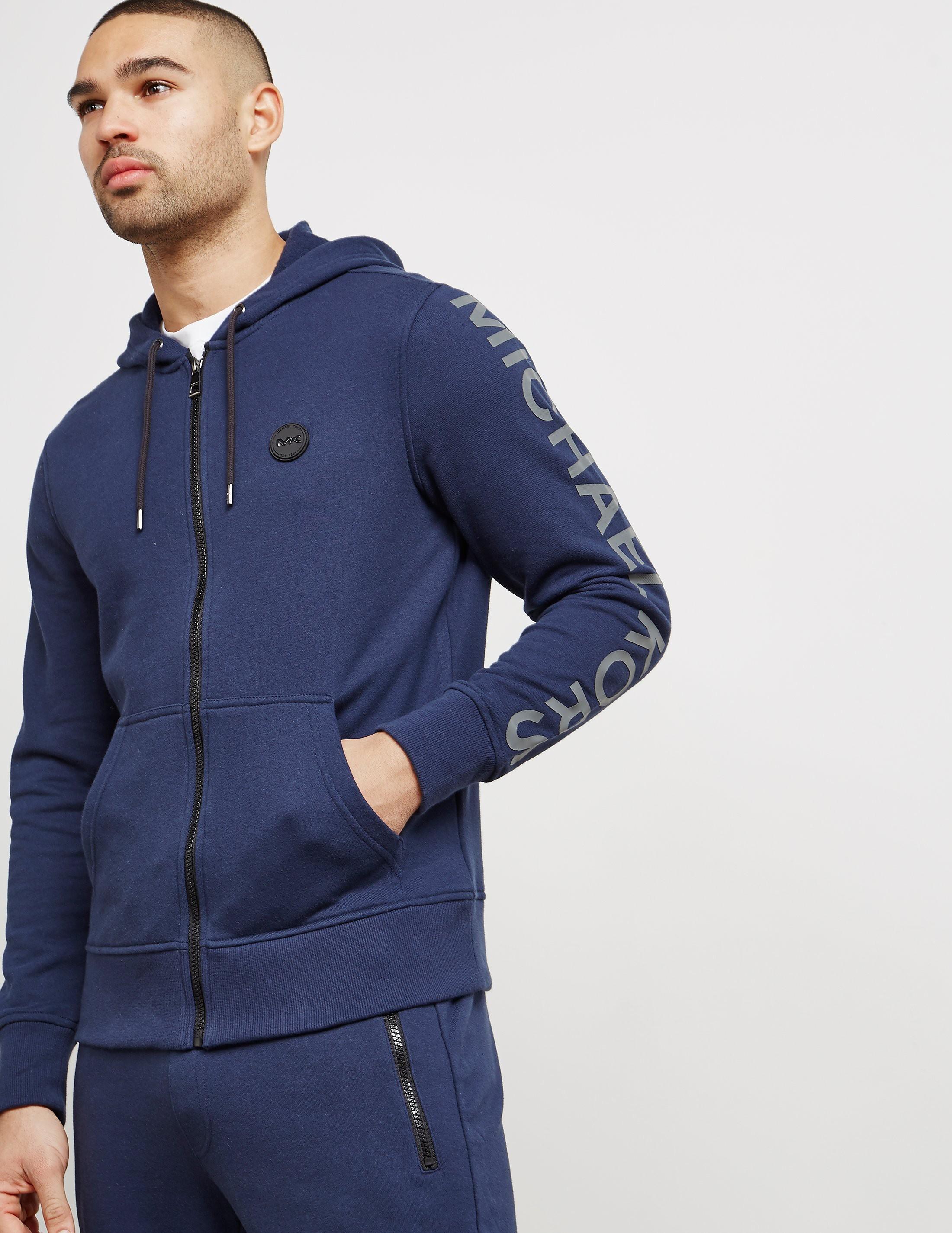 Michael Kors Arm Logo Full-Zip Hoodie