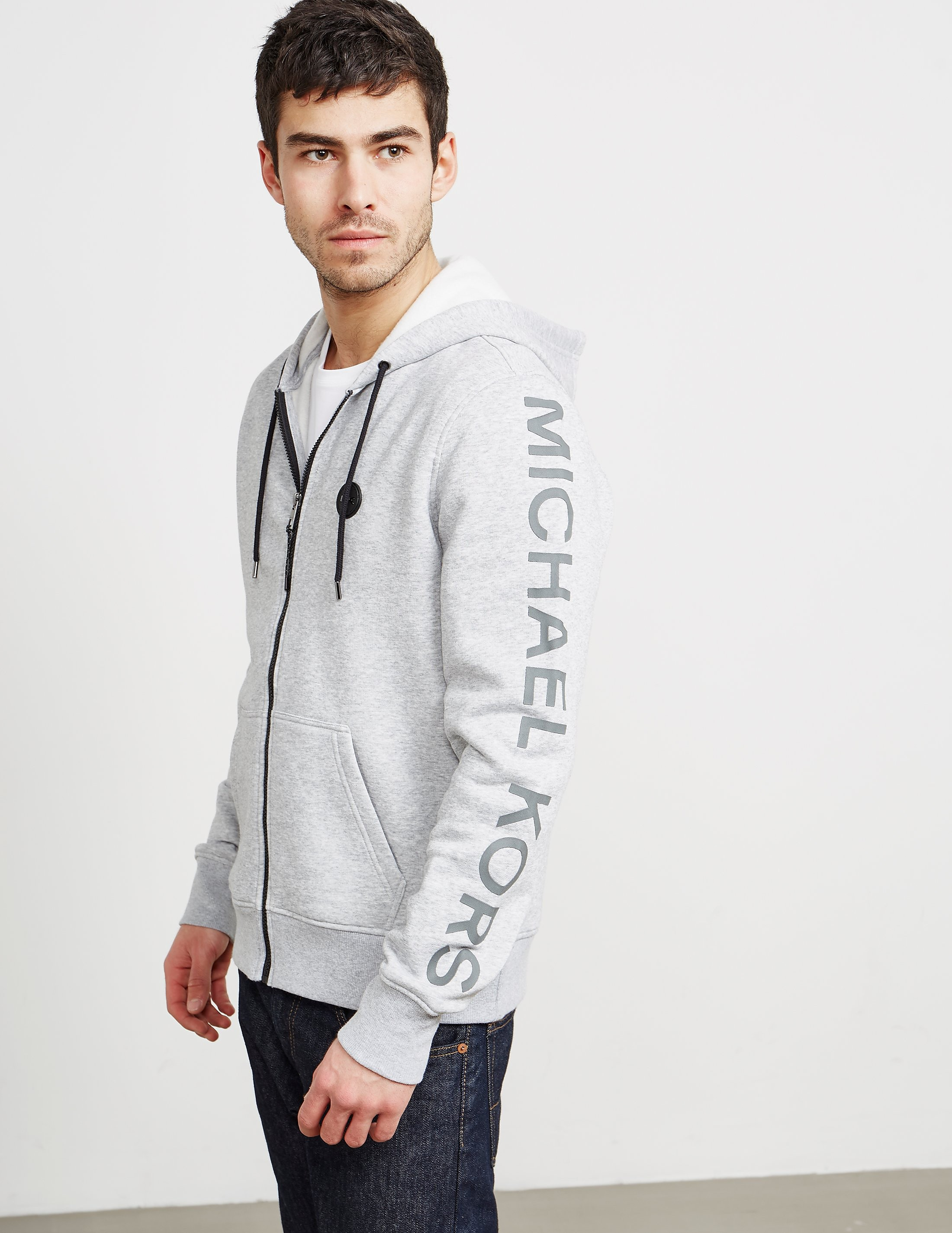 Michael Kors Arm Logo Full-Zip Hoody