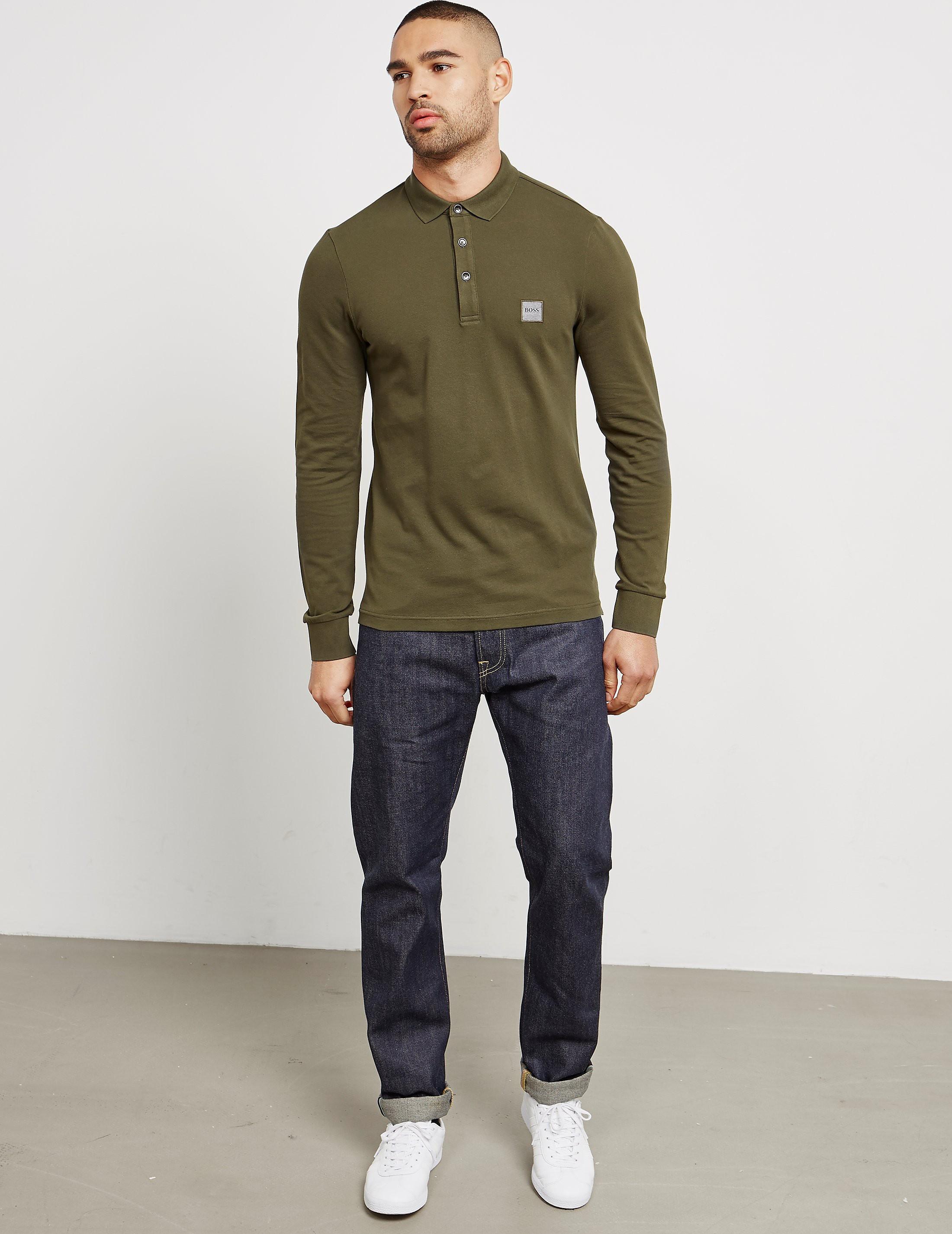 BOSS Orange Paulyn Long Sleeve Polo Shirt - Exclusive