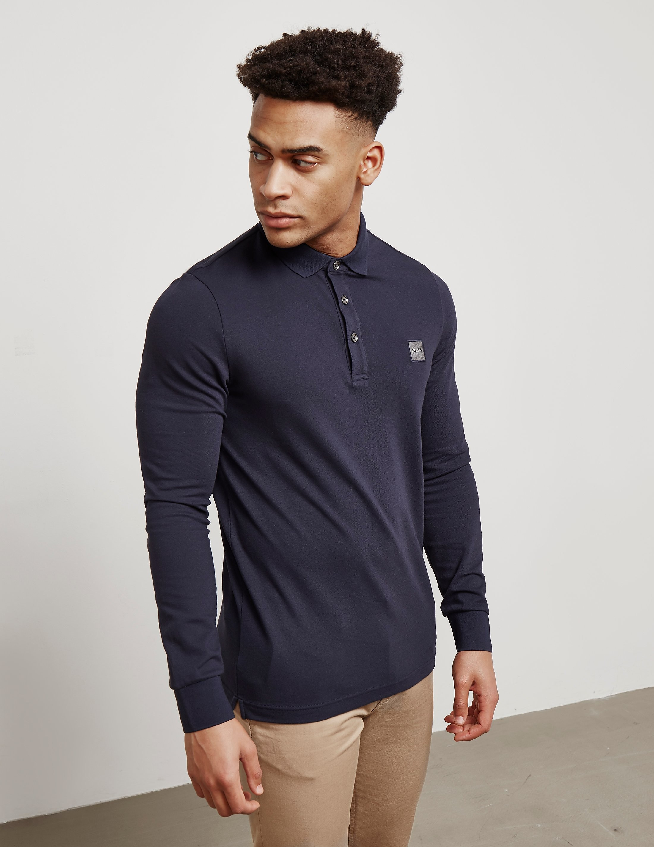 BOSS Orange Paulyn Long Sleeve Polo Shirt - Exclusive