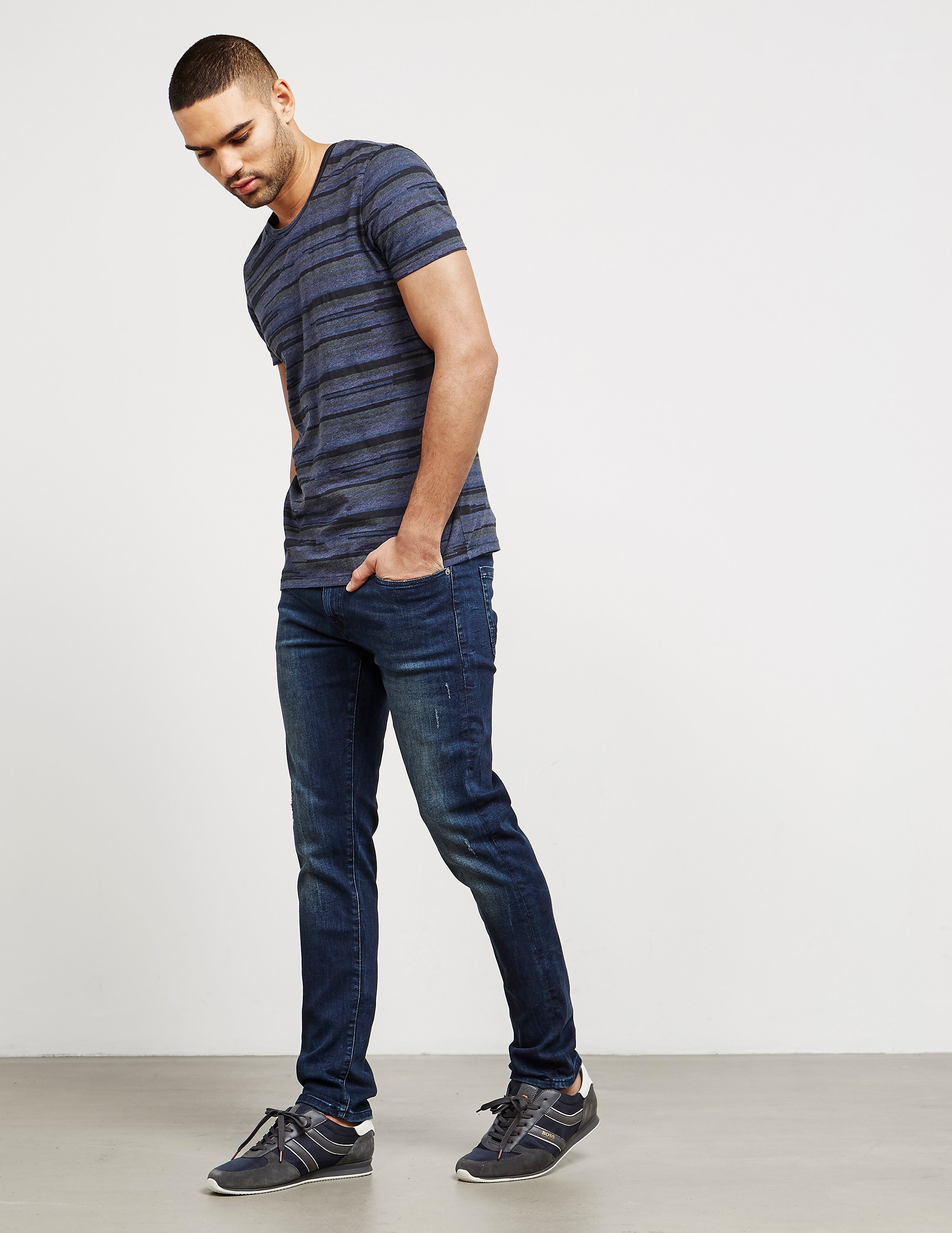 BOSS Tamigo Stripe Short Sleeve T-Shirt