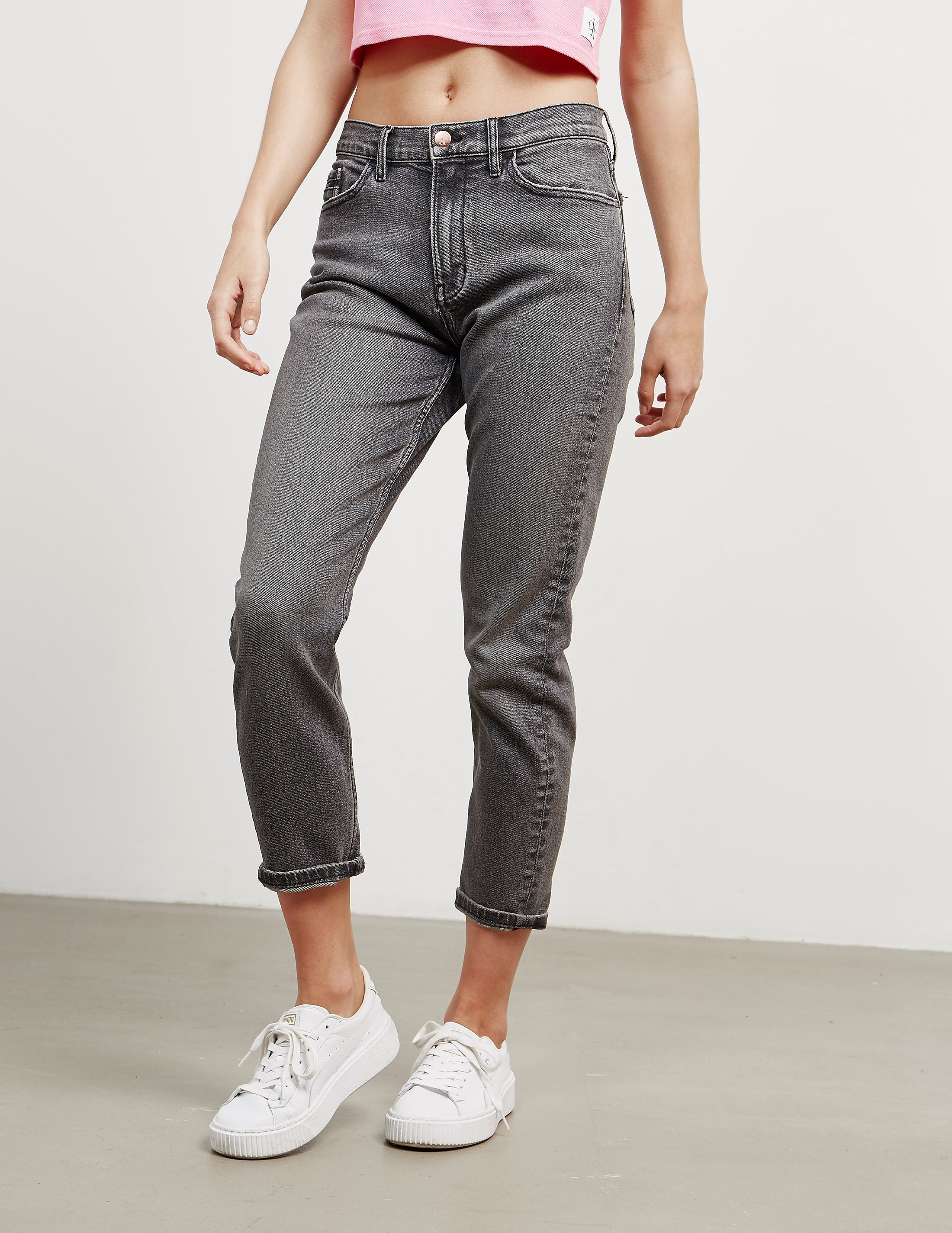 Calvin Klein High Rise Slim Fit Jeans