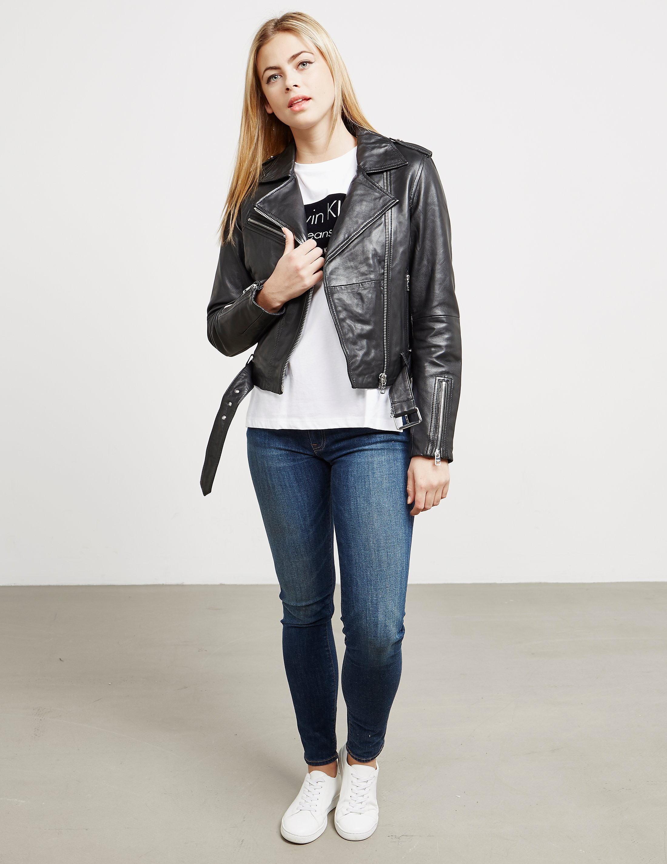 Calvin Klein Mia Padded Leather Jacket