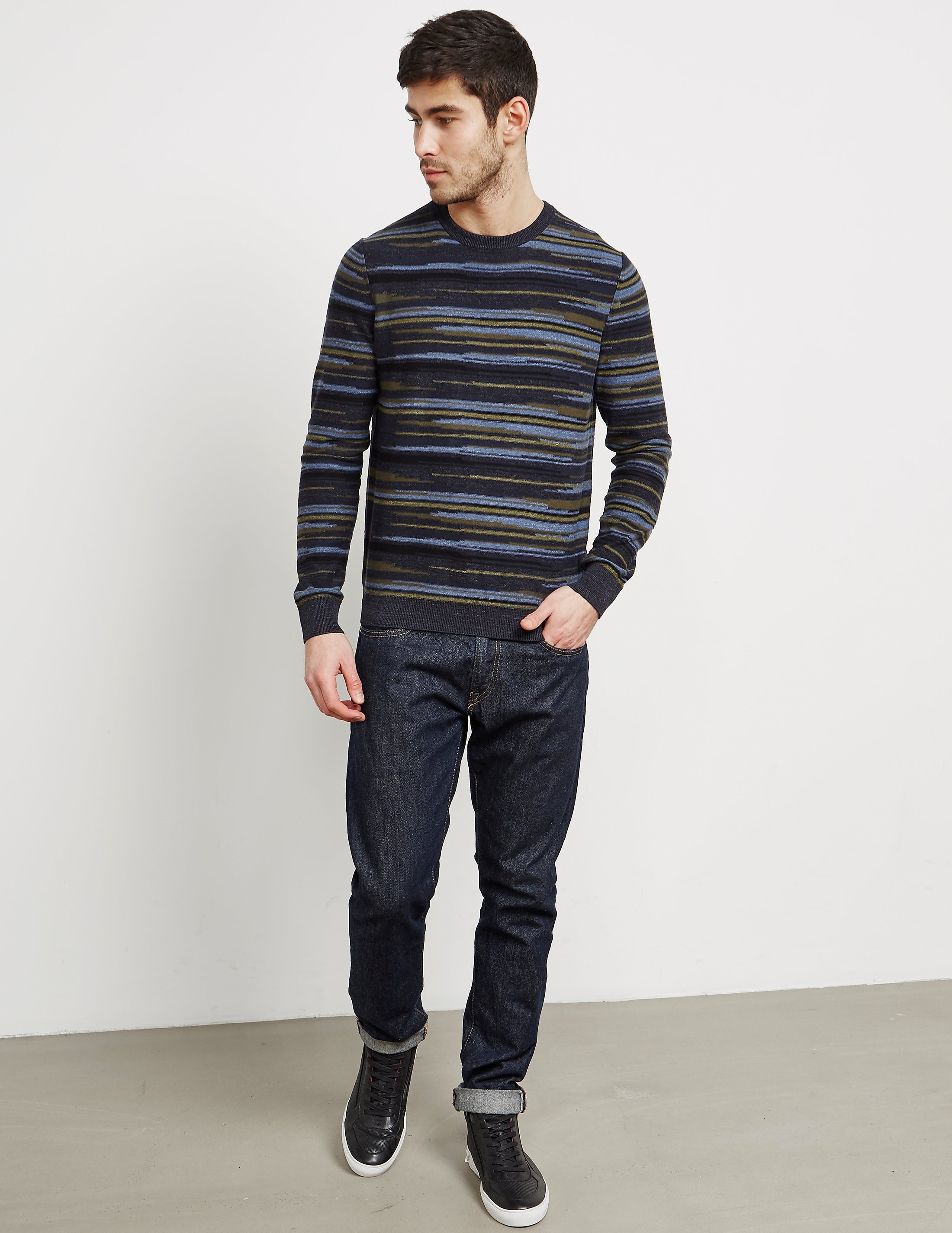 BOSS Orange Krallgo Stripe Knitted Jumper