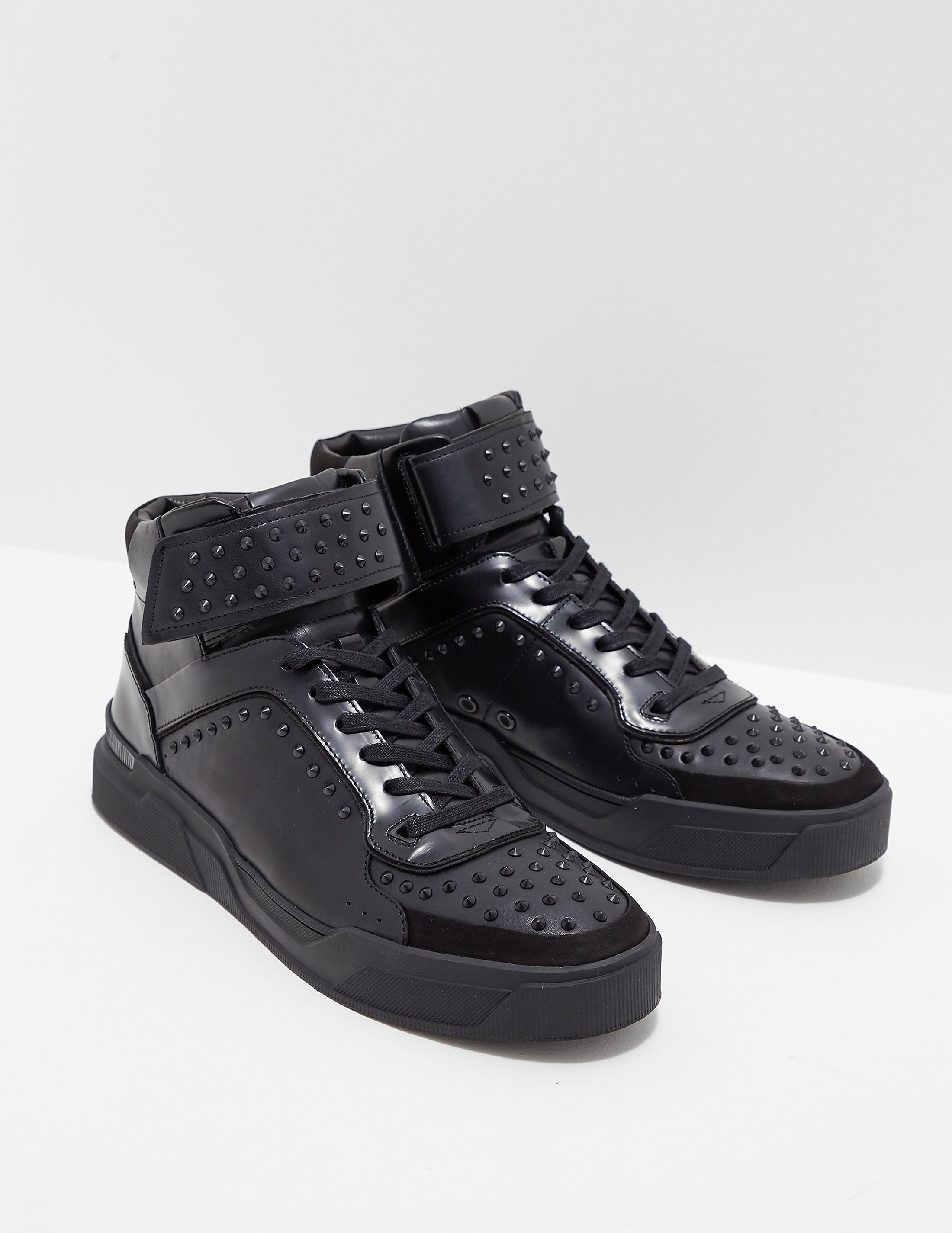 HUGO Symmetric Studded High Top