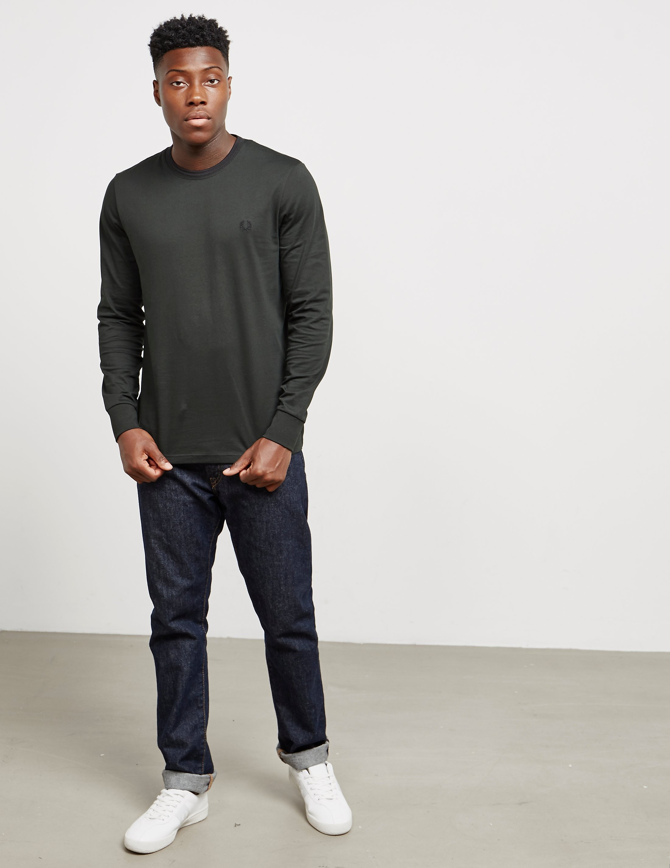 Fred Perry Tipped Long Sleeve T-Shirt - Exclusive