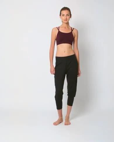 new style & luxury good texture fashionable and attractive package Garudasana Yoga Capris - Black | Women's Trousers & Yoga ...