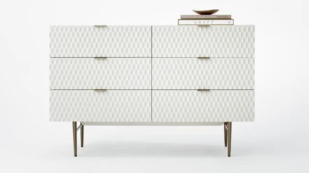 Audrey 3 drawer dresser parchment