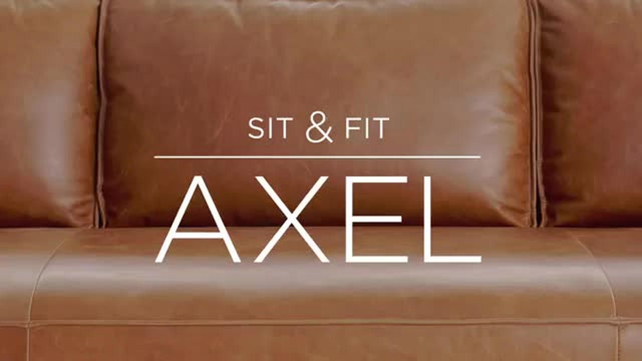 Axel leather sofa