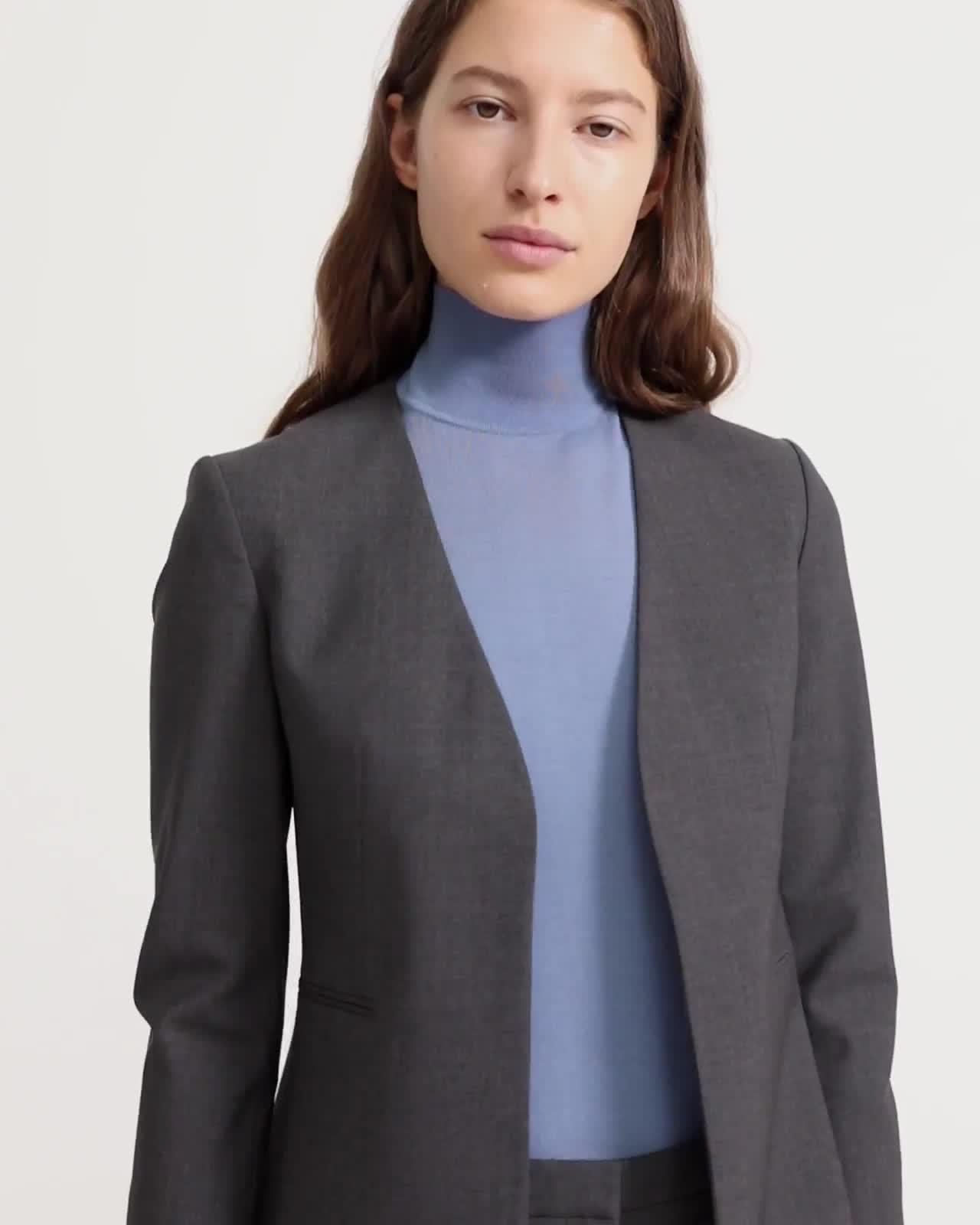 Good Wool Open Blazer