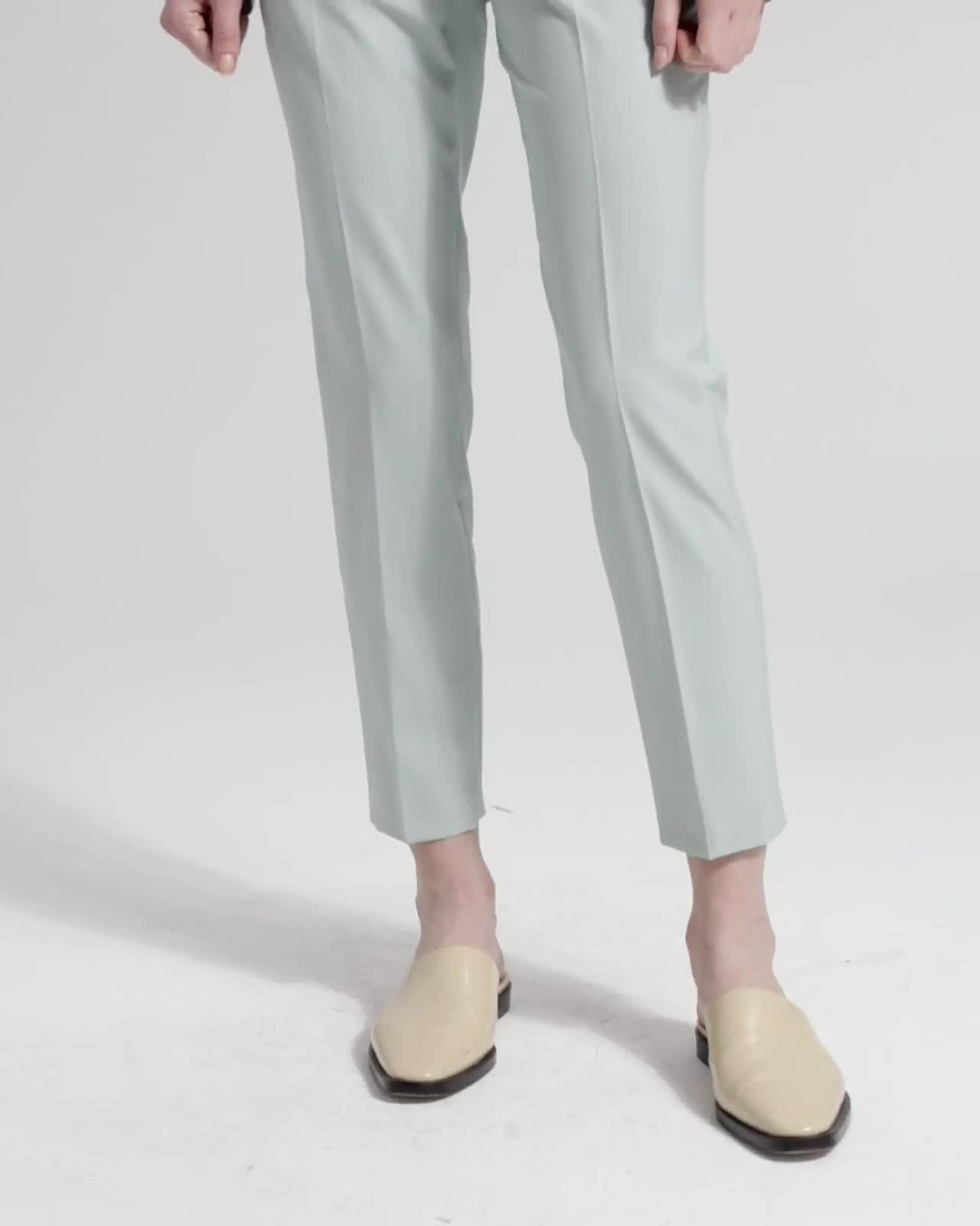 Good Wool Slim Crop Trouser