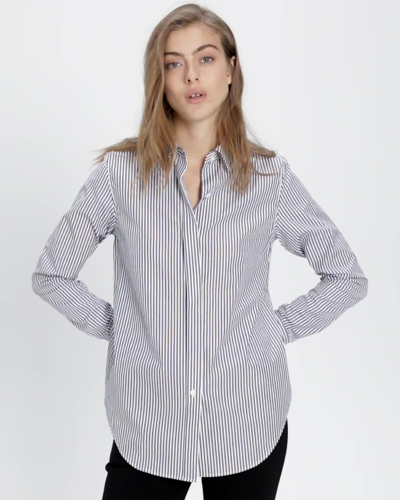 8a0a79561d845 Striped Essential Button-Down Shirt