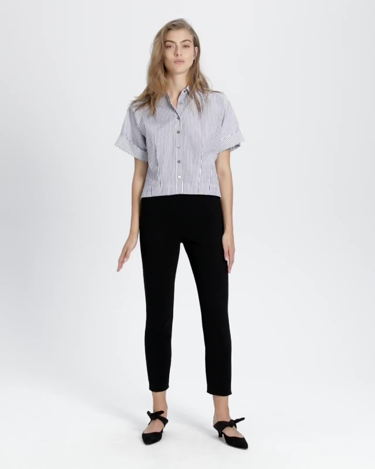 Crepe Basic Pull-On Pant