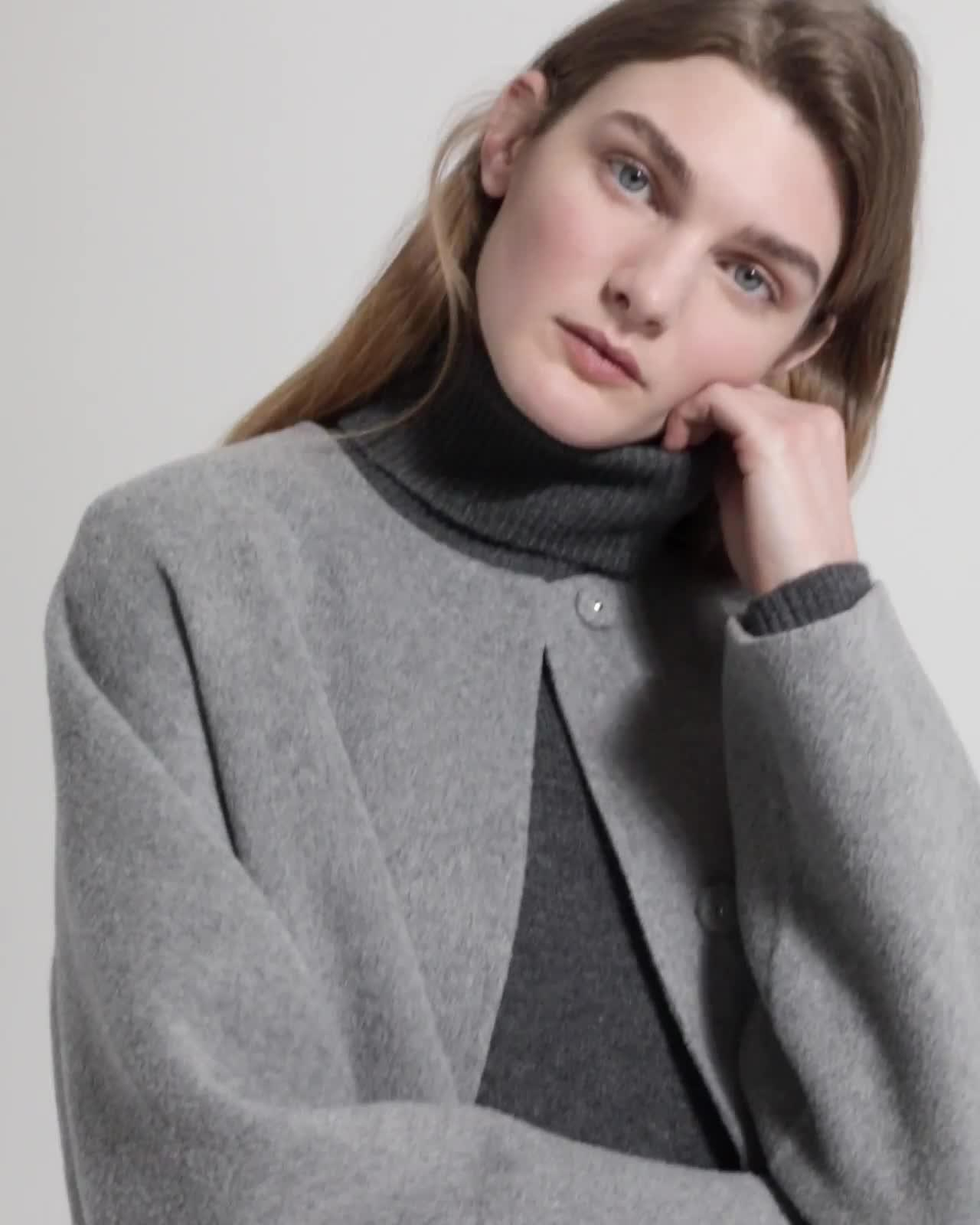 e9b90084dd7 Wool-Cashmere Rounded Coat | Theory
