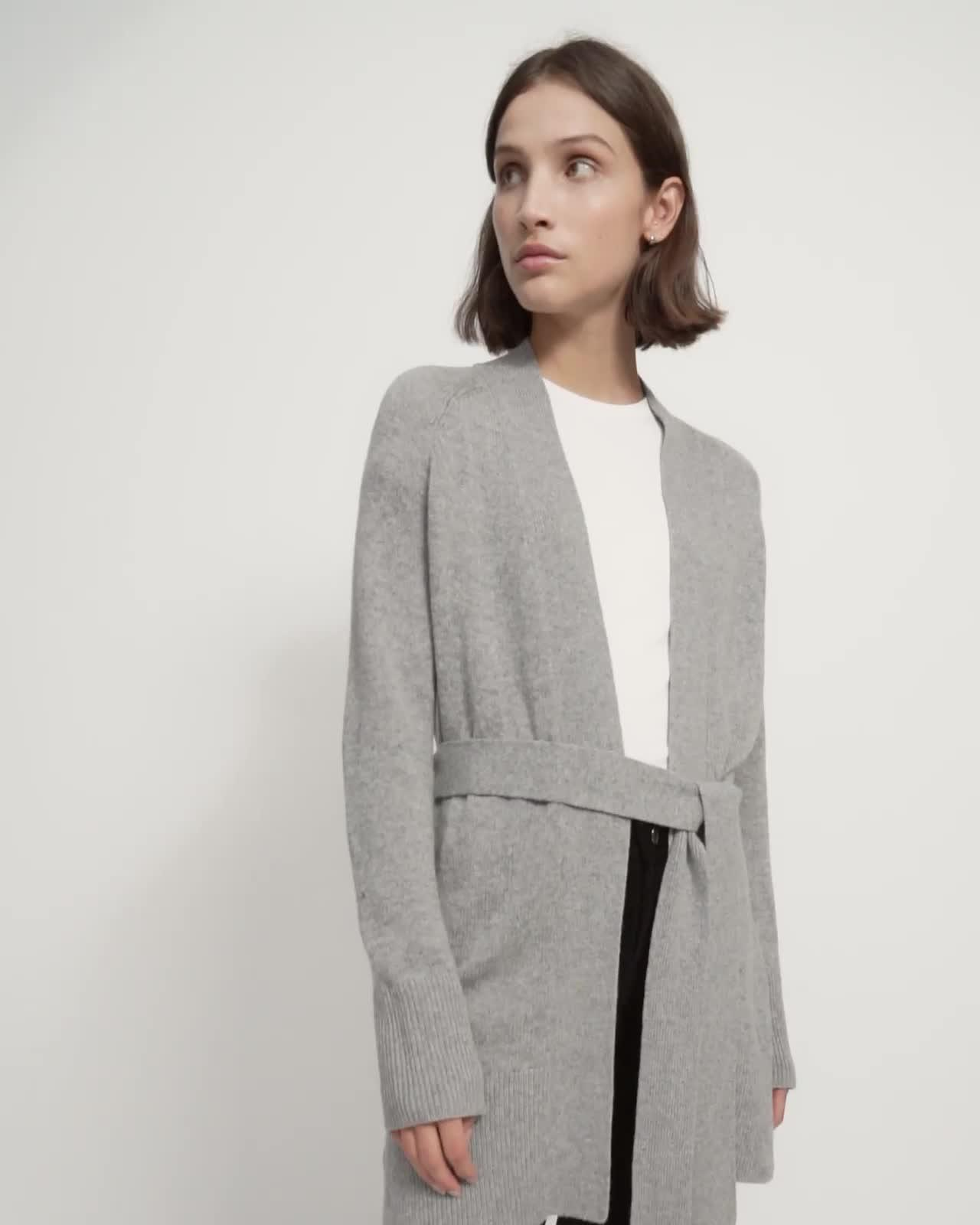 Belted Cardigan in Cashmere