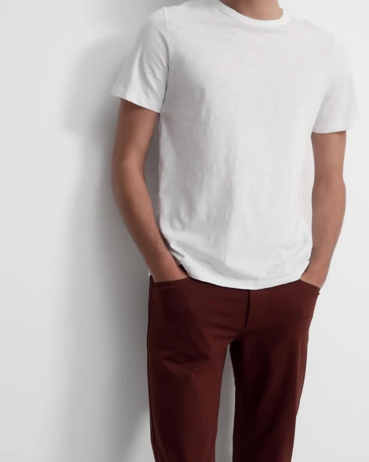 Tech Slim-Fit Five-Pocket Pant in Compact Ponte