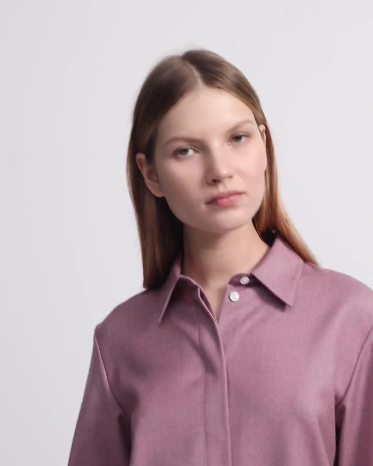 Sleek Flannel Straight Shirt