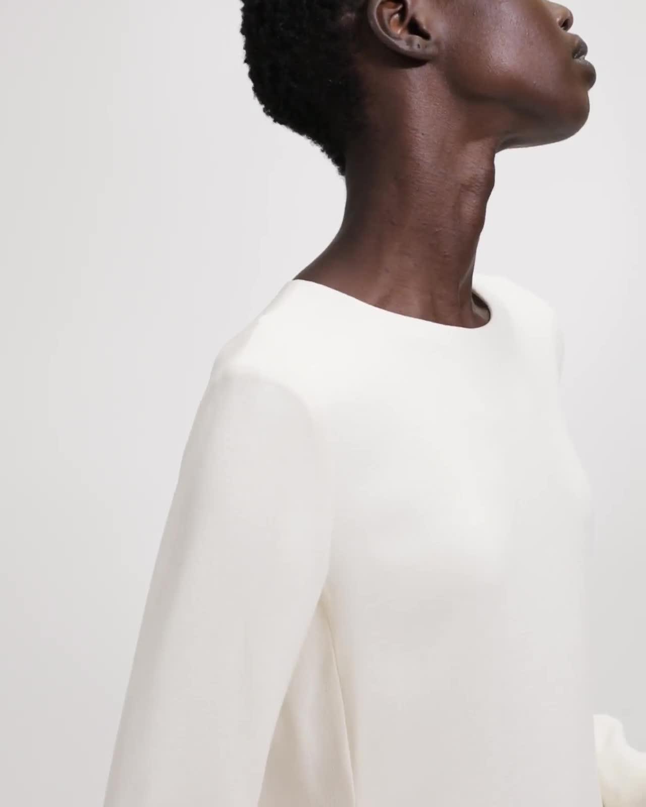 Textured Cady A-Line Dress