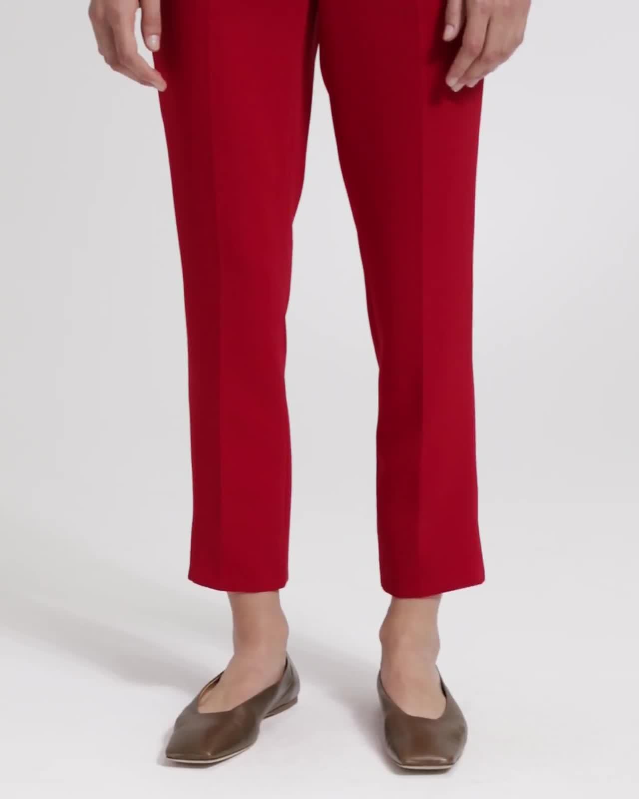 Crepe Basic Pull-On Pant