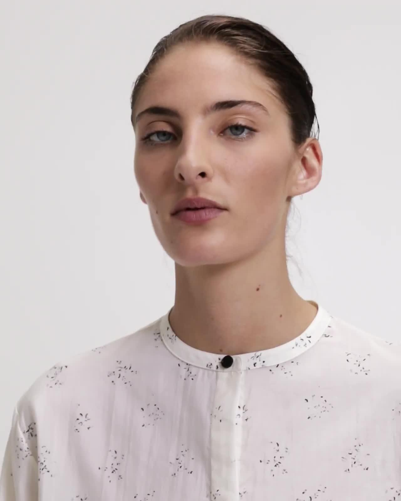 Speckled Cropped Easy Shirt