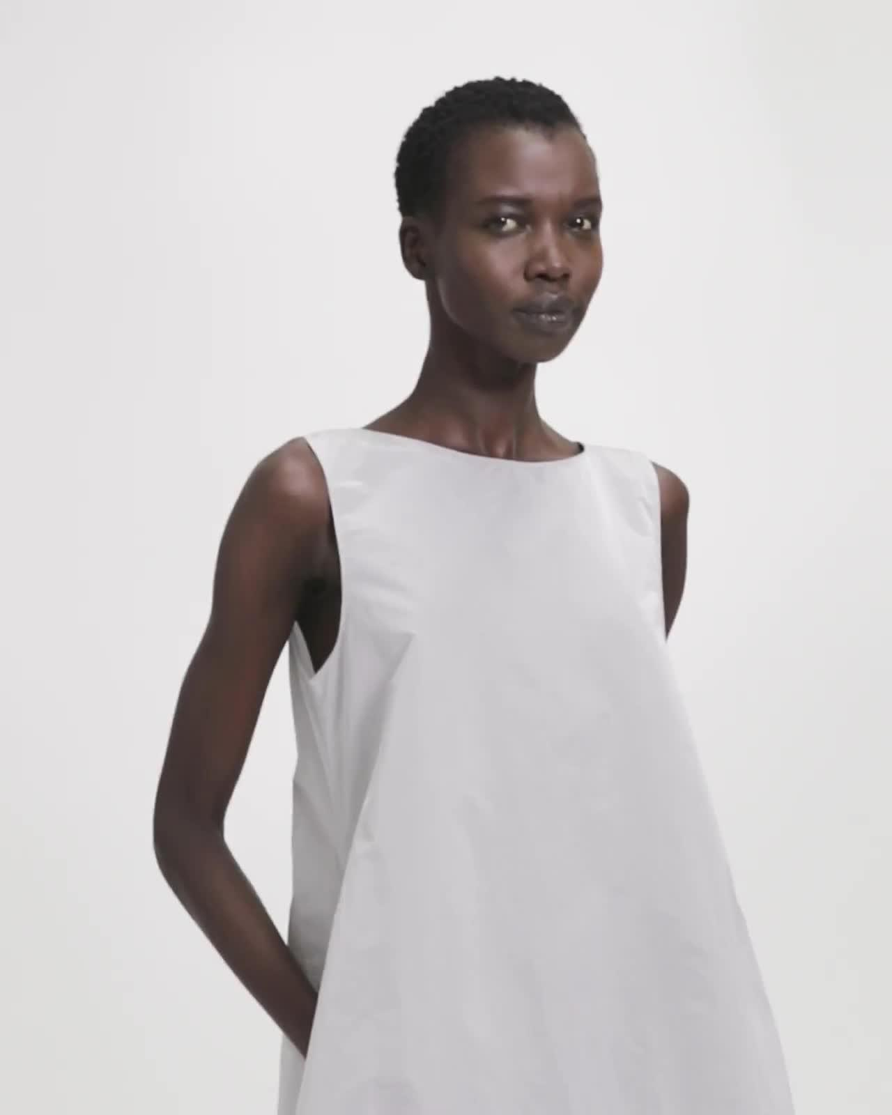 A-Line Sleeveless Maxi Dress