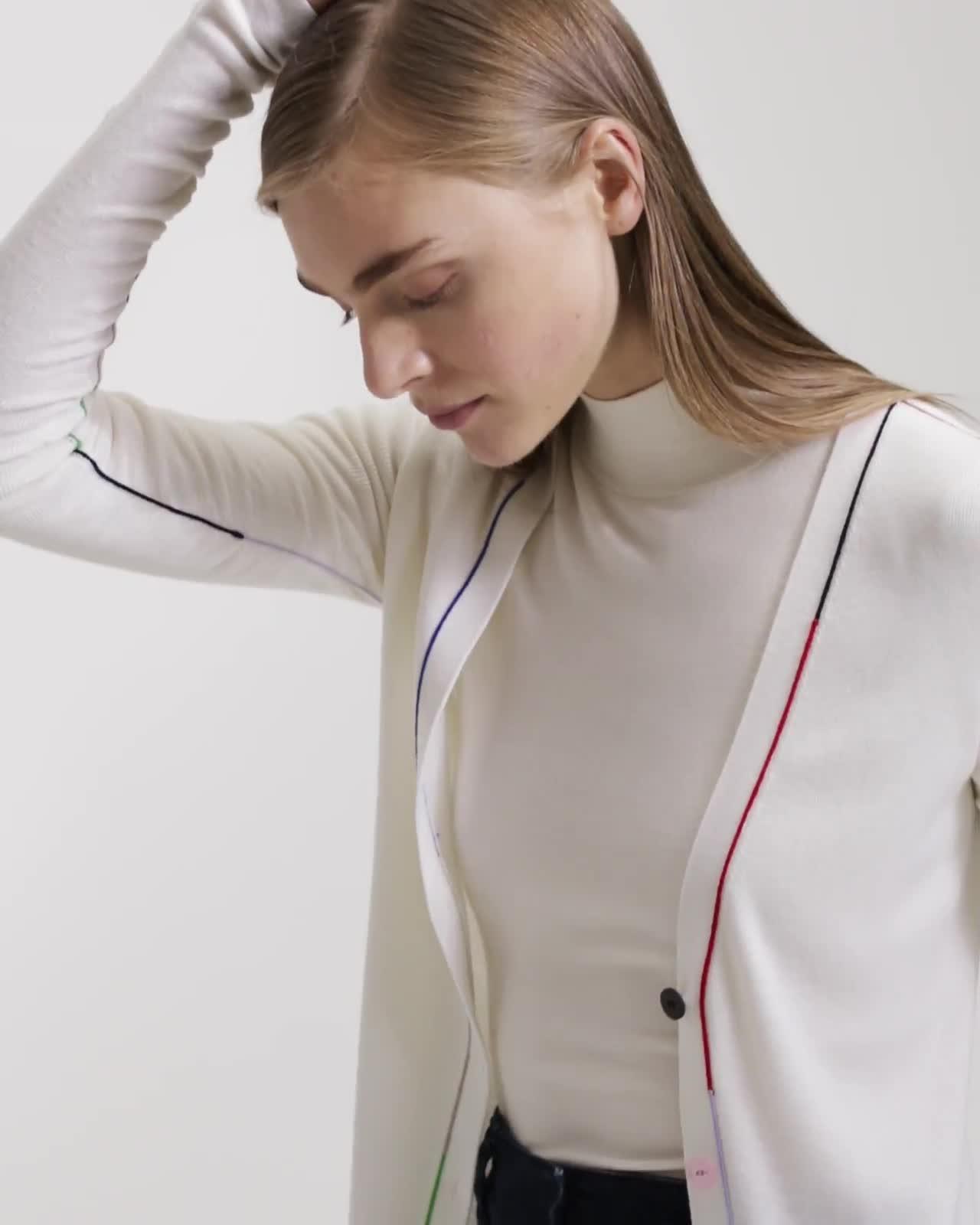 Multi-Color Linked Cardigan