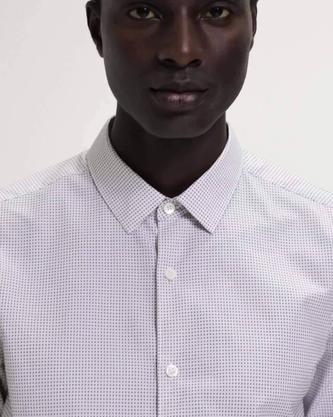 Grid Print Standard-Fit Shirt