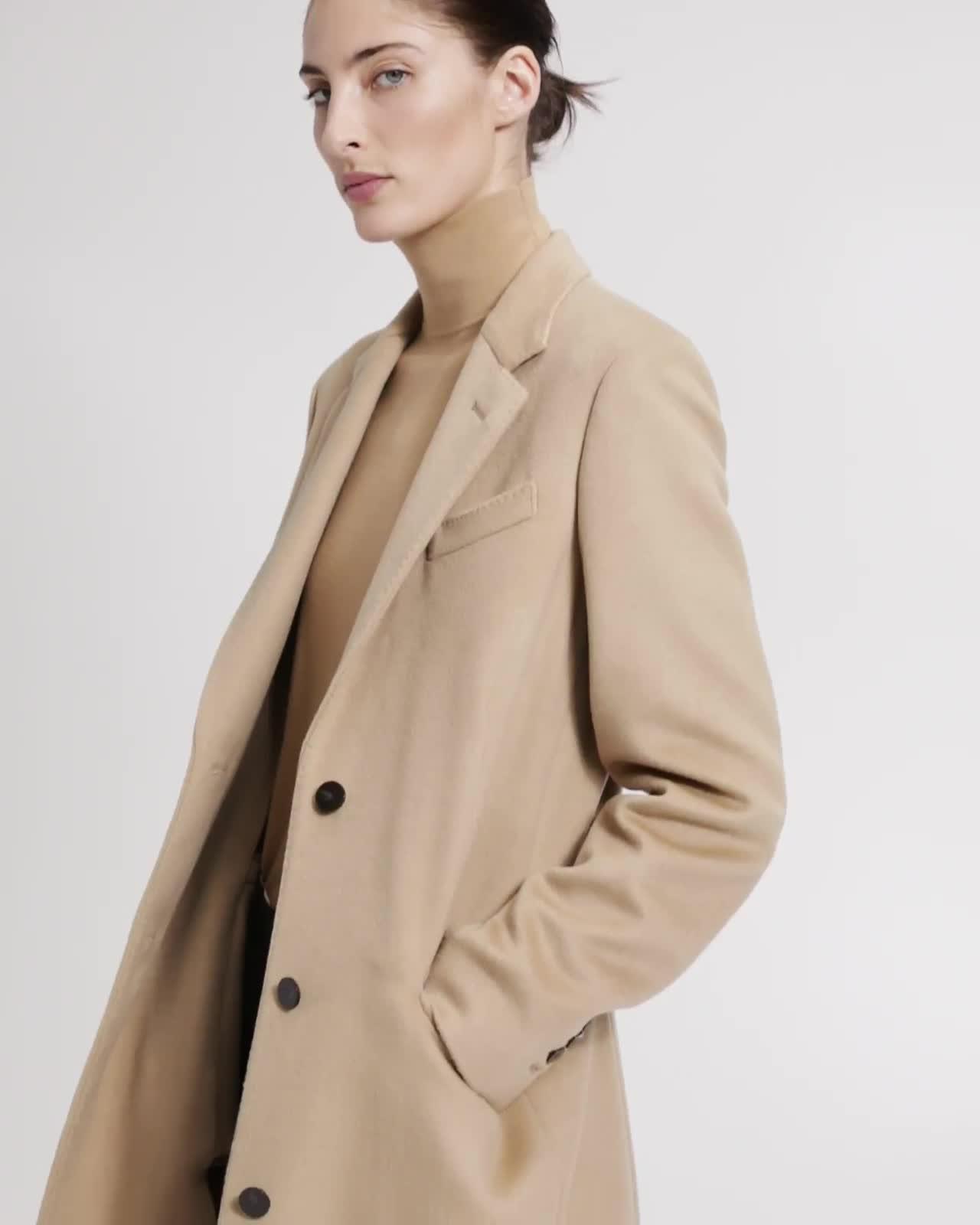 Classic Coat in Cashmere