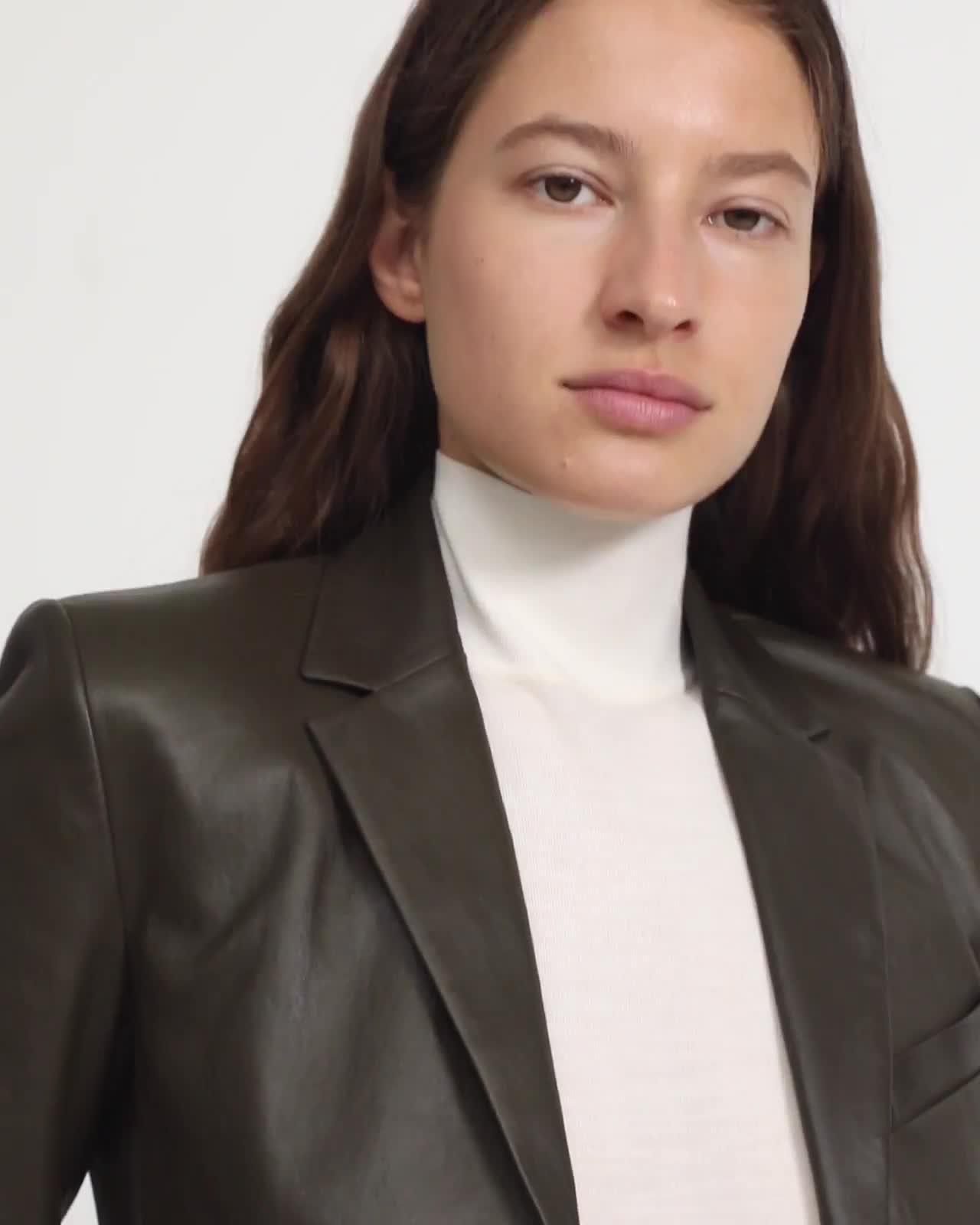 Leather Shrunken Blazer