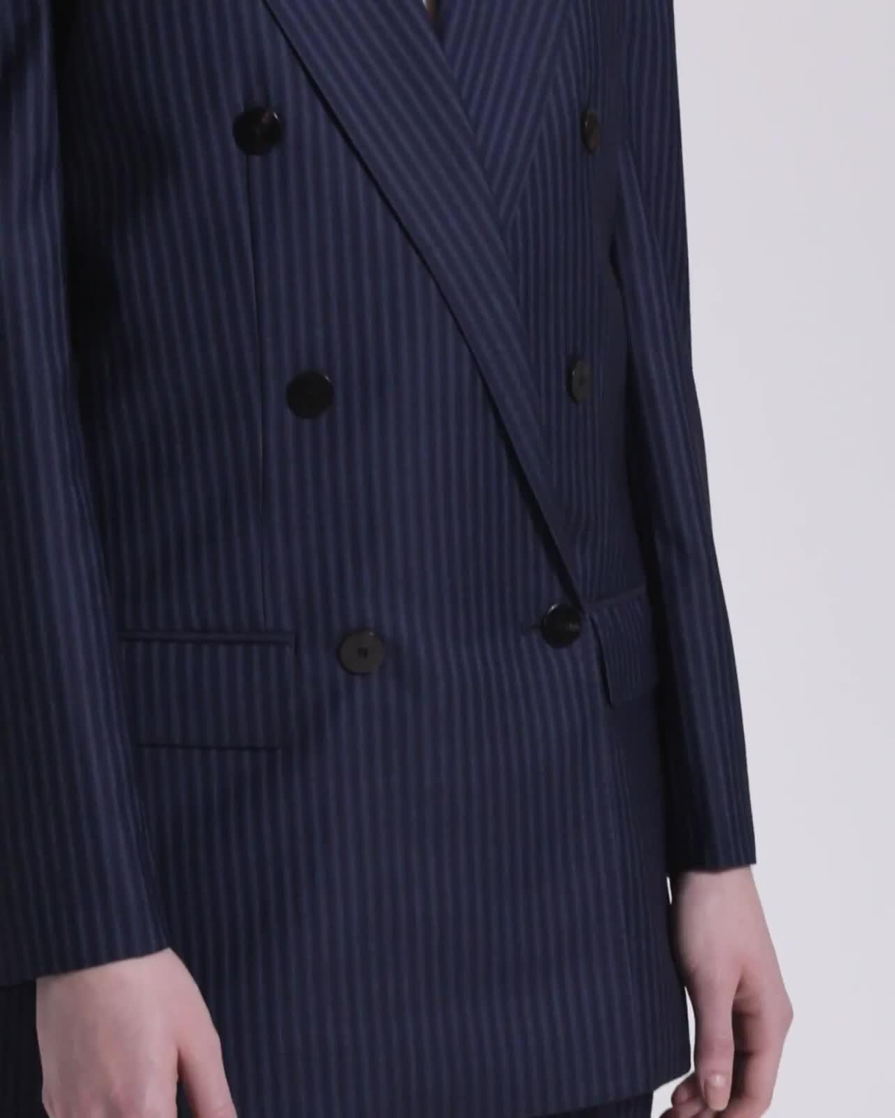 Straight Double-Breasted Jacket
