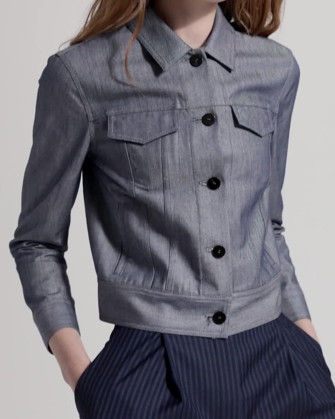Shrunken-Fit Denim Jacket