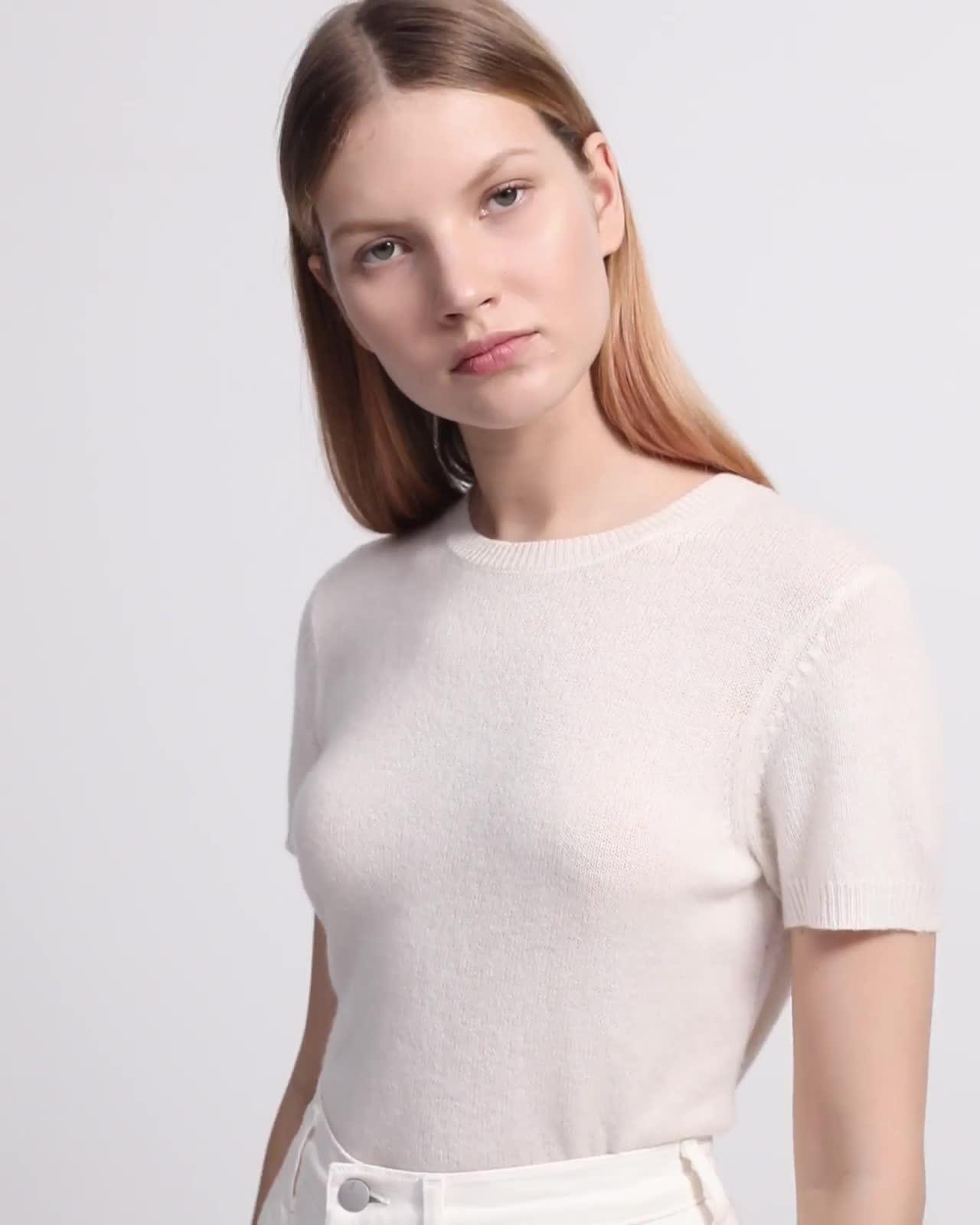 Feather Cashmere Tee Sweater