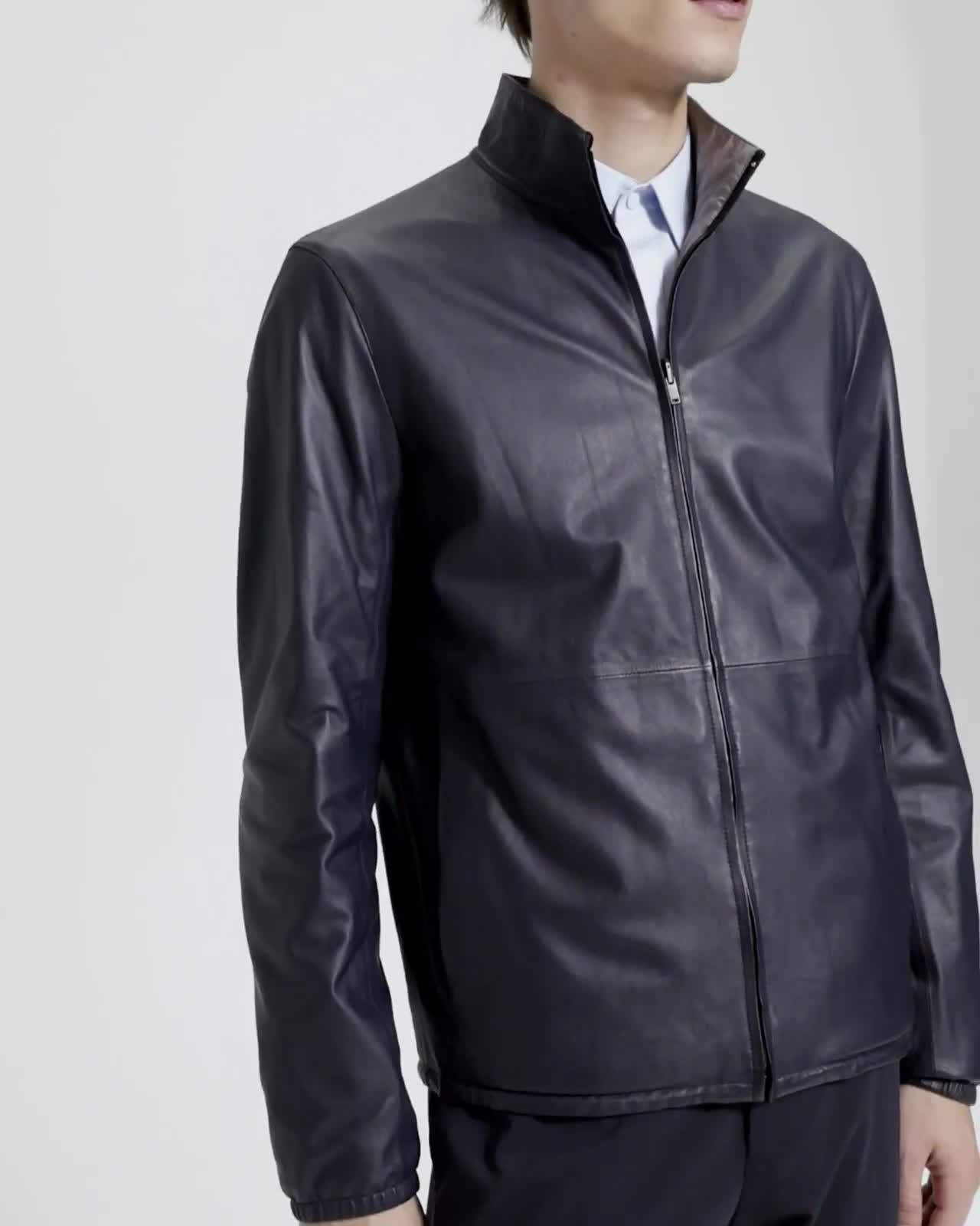Reversible Packable Nappa Jacket