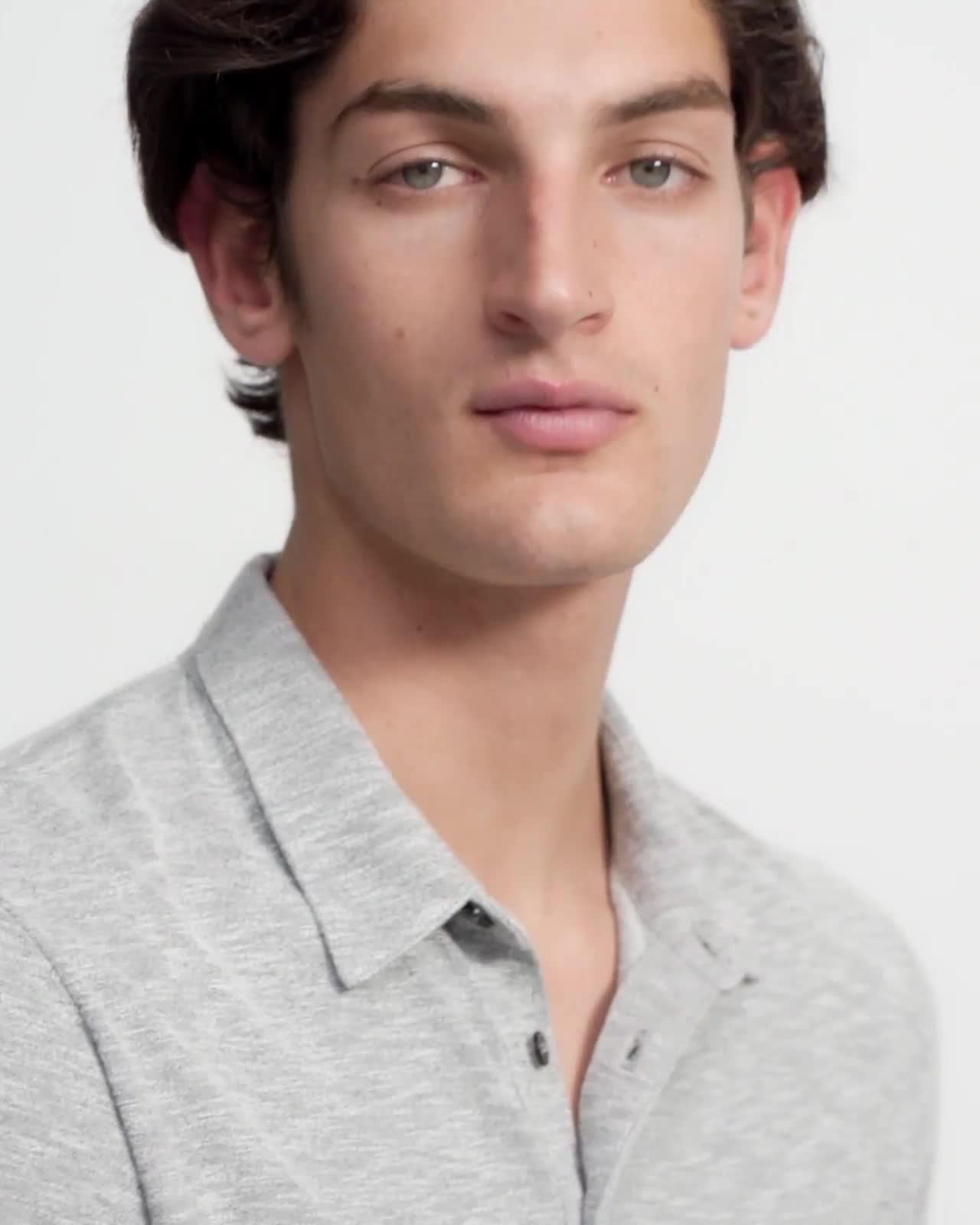 Polo Shirt in Modal Jersey