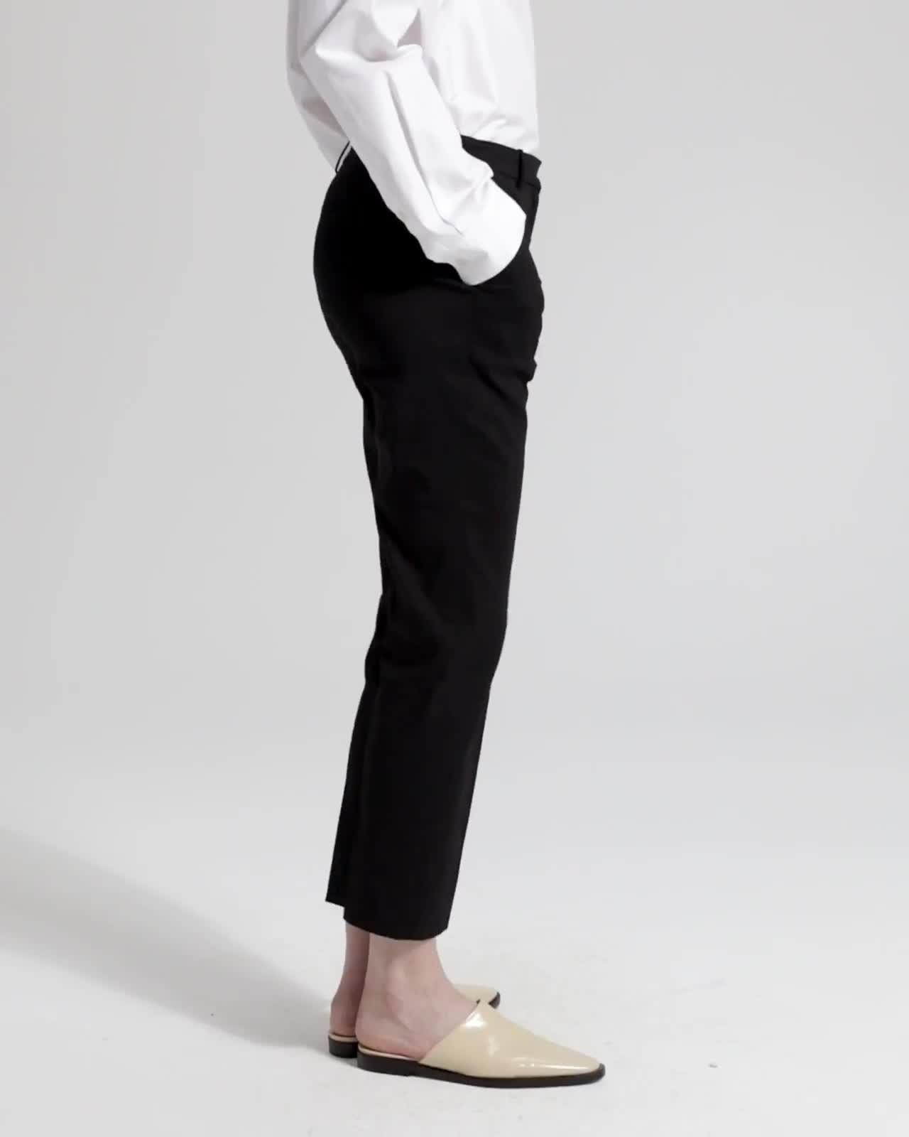 Good Linen Cropped Tailored Trouser