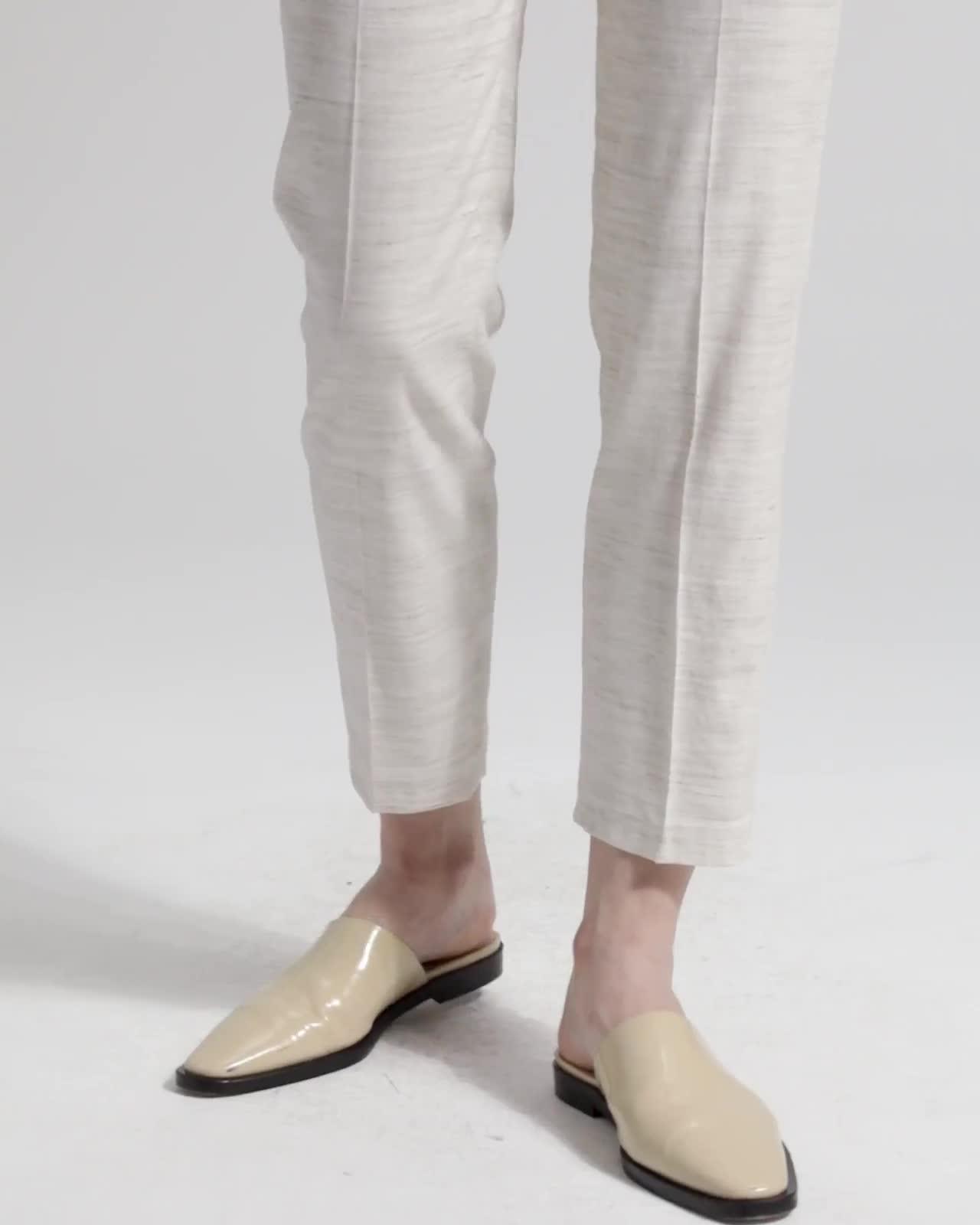 Sharkskin Crunch Tailored Trouser
