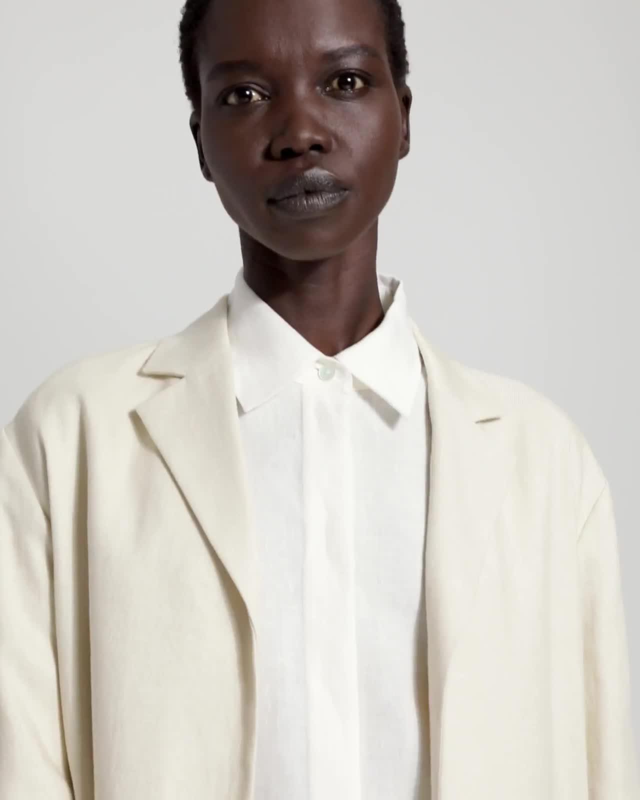 Luxe Linen Overlay Coat