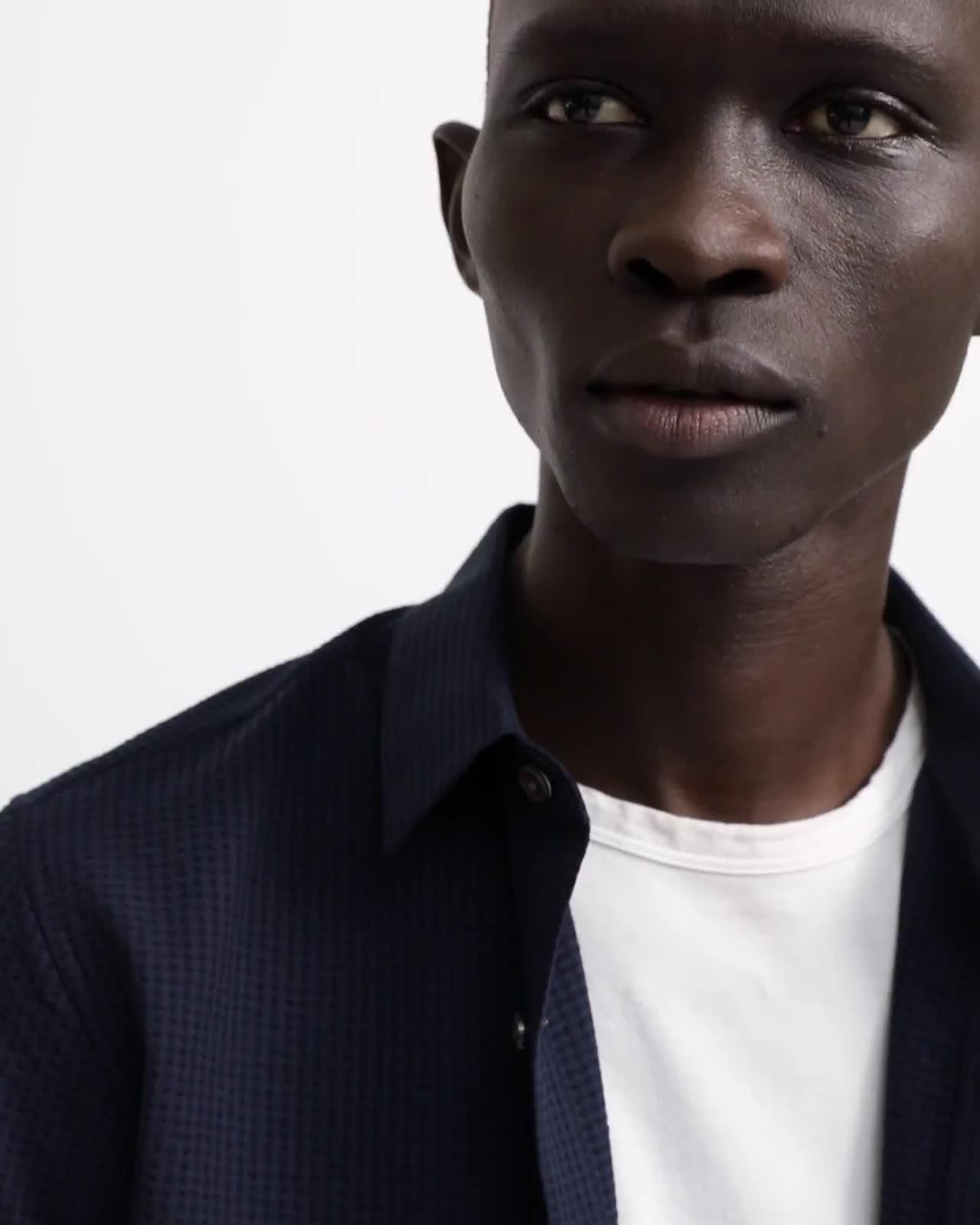 Seersucker Short-Sleeve Irving Shirt