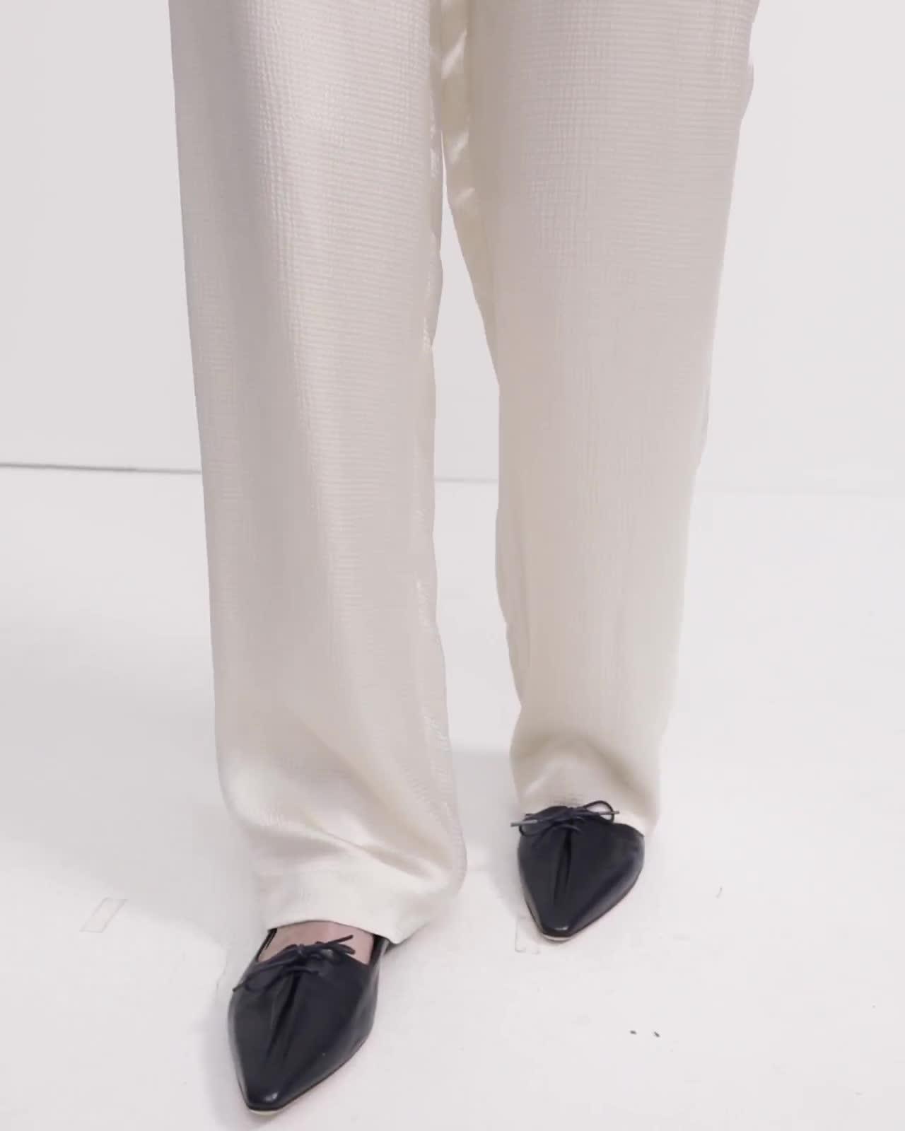 Pajama Pant in Hammered Viscose