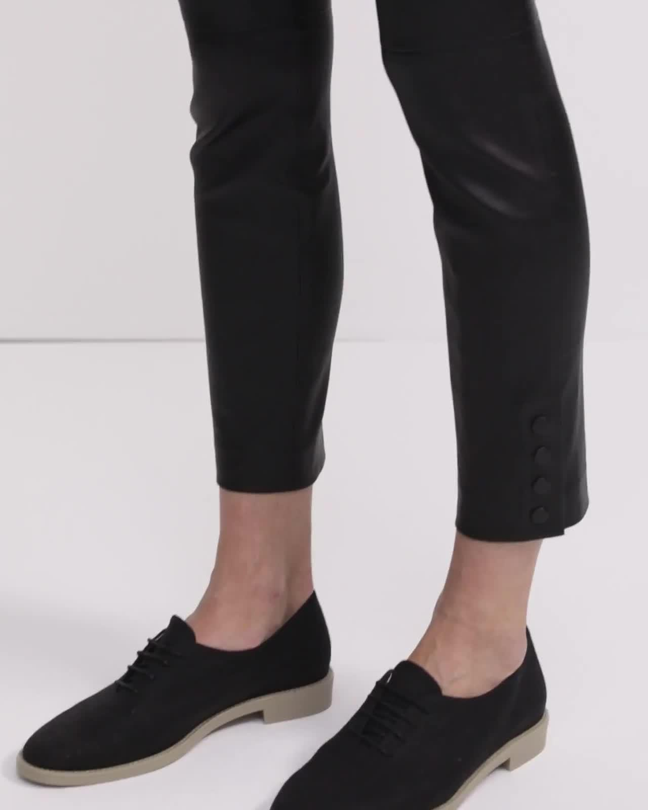 Leather Snap Legging