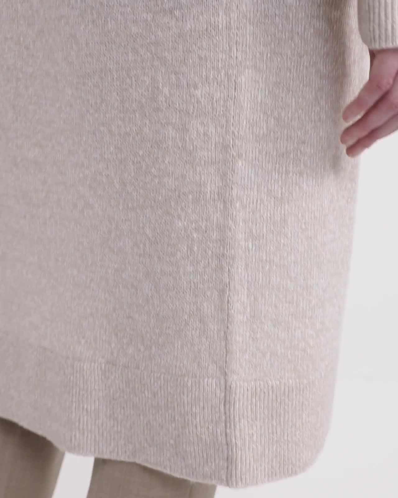 Linen-Cashmere Open Cardigan