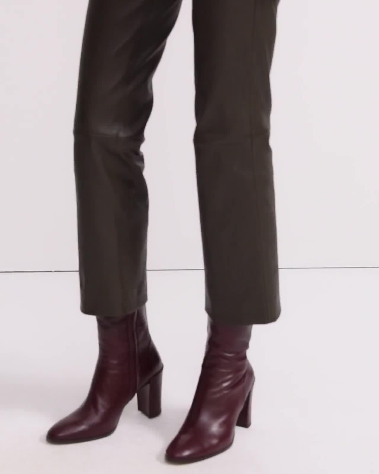 Cropped Pant in Leather