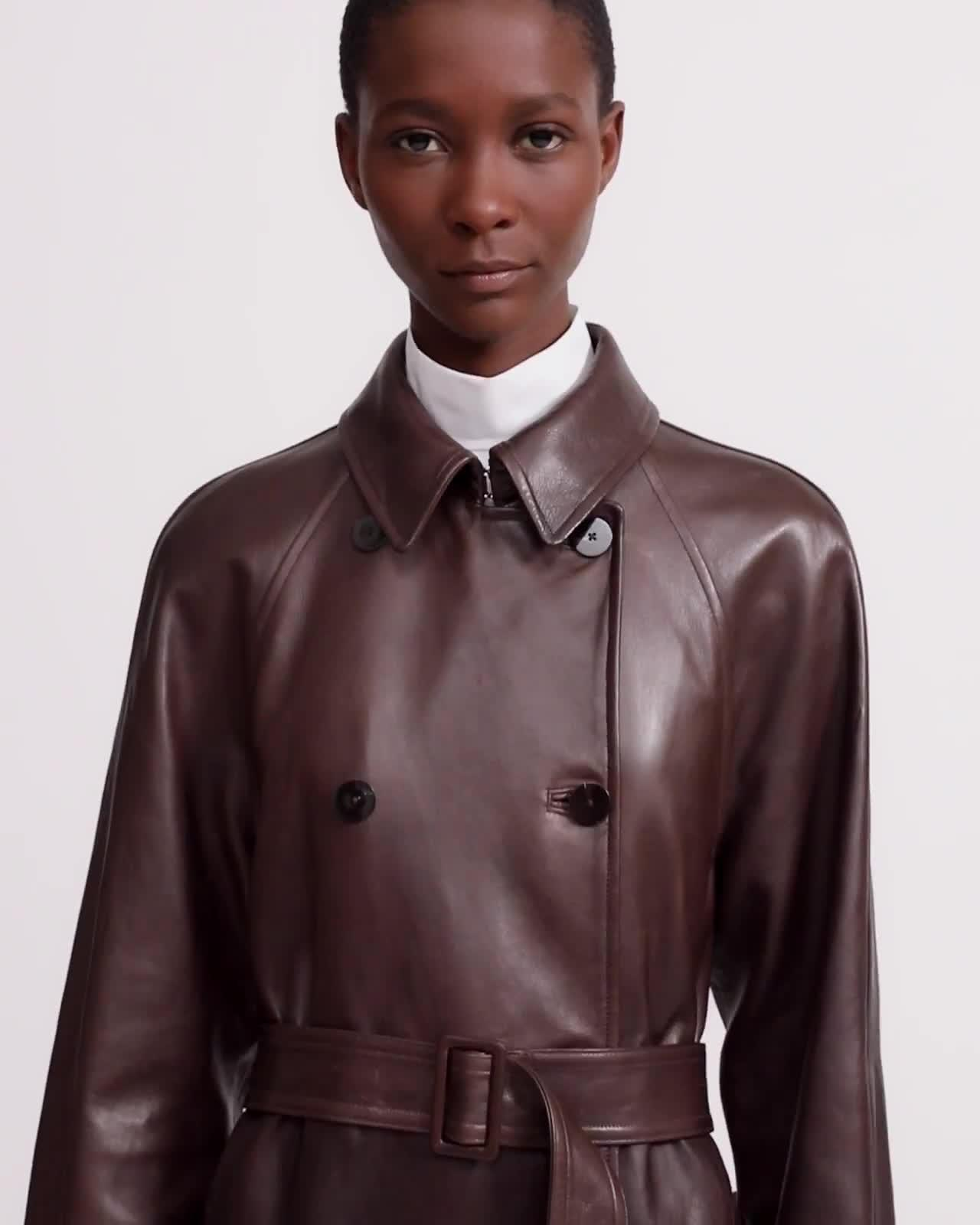 Soft Leather Classic Trench