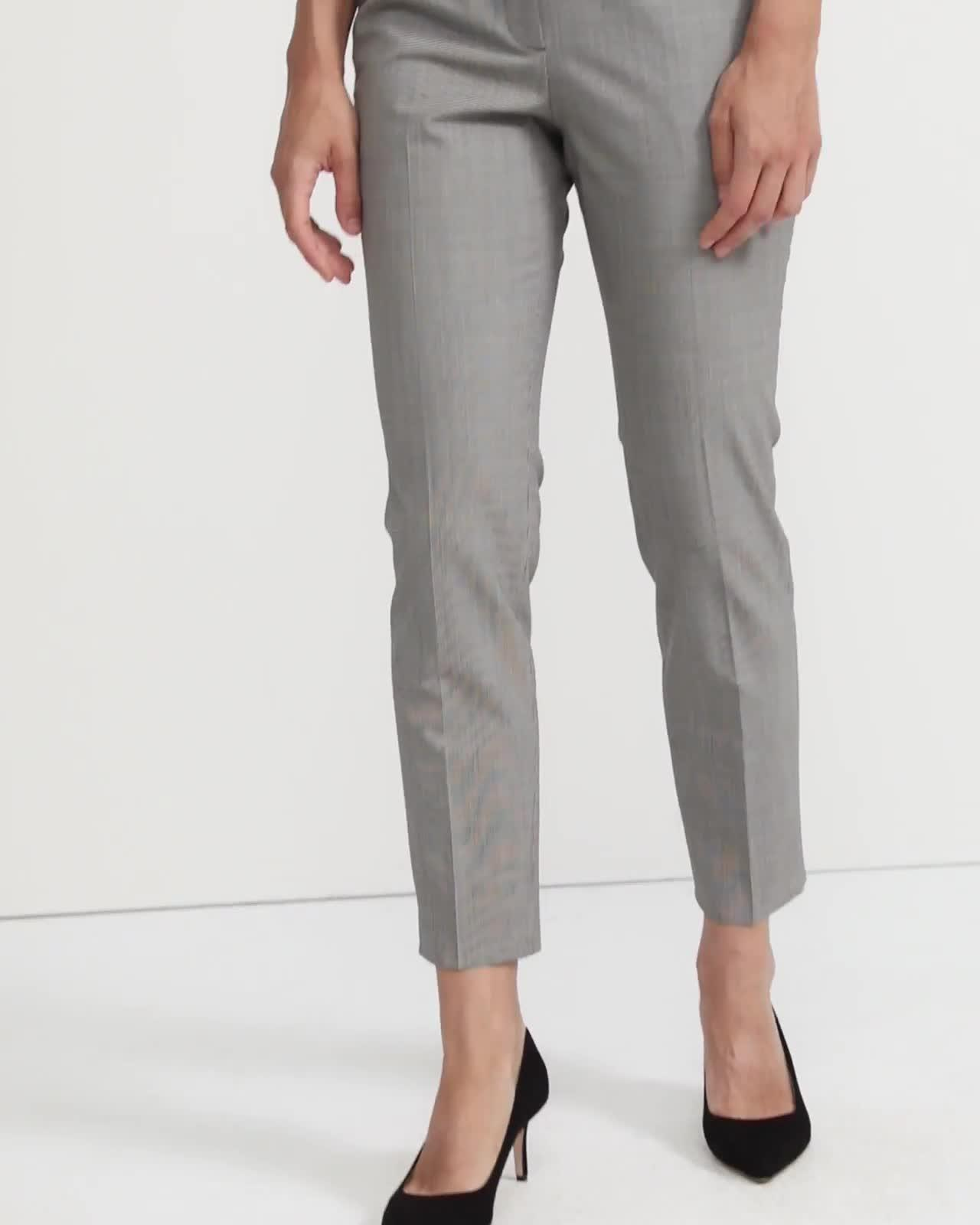 Good Wool Houndstooth Slim Crop Pant