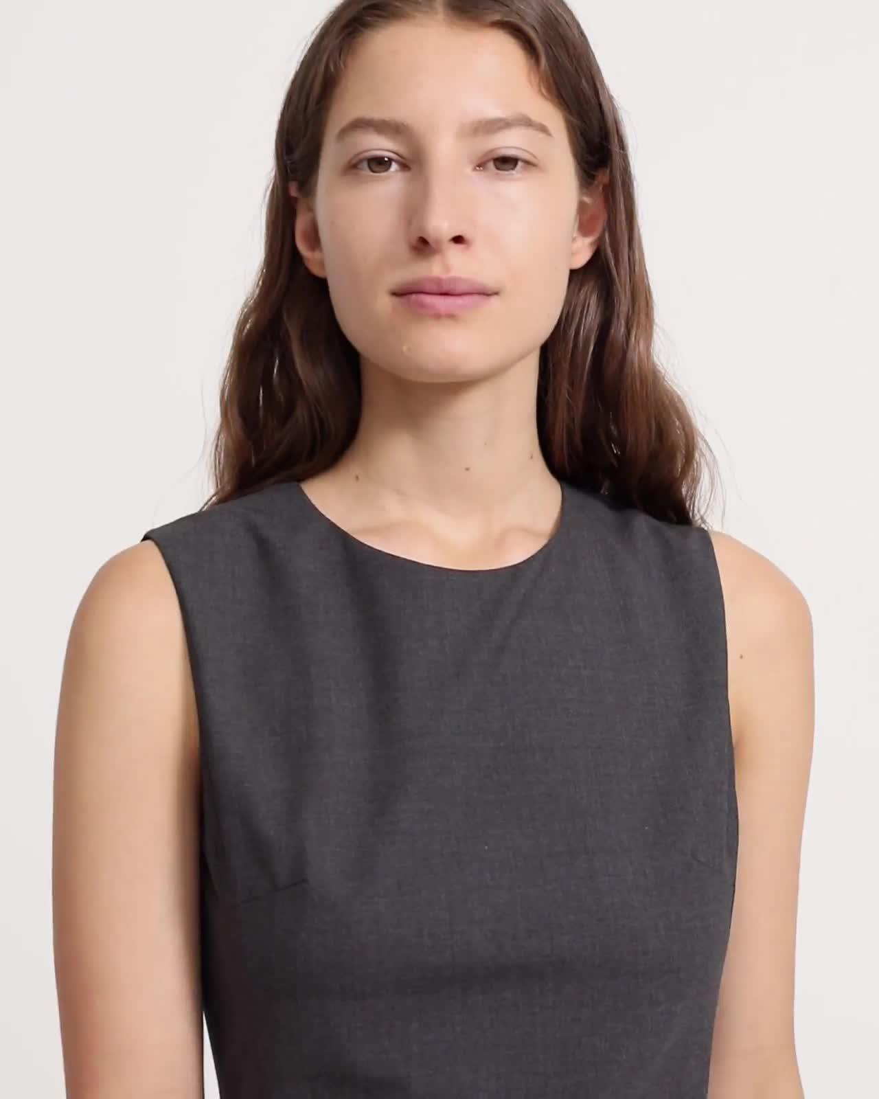 Good Wool Sleeveless Fitted Dress