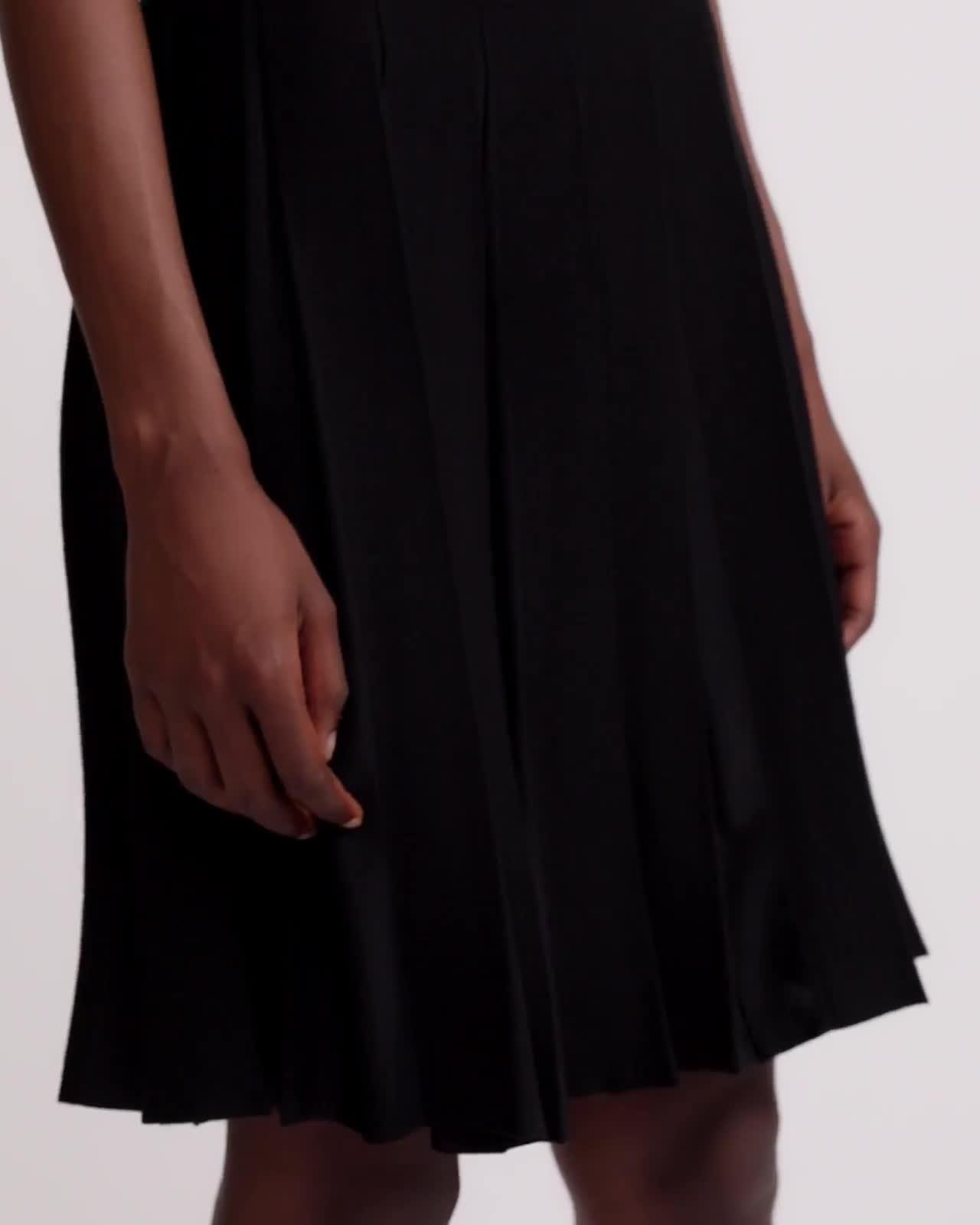Pleated Tee Dress